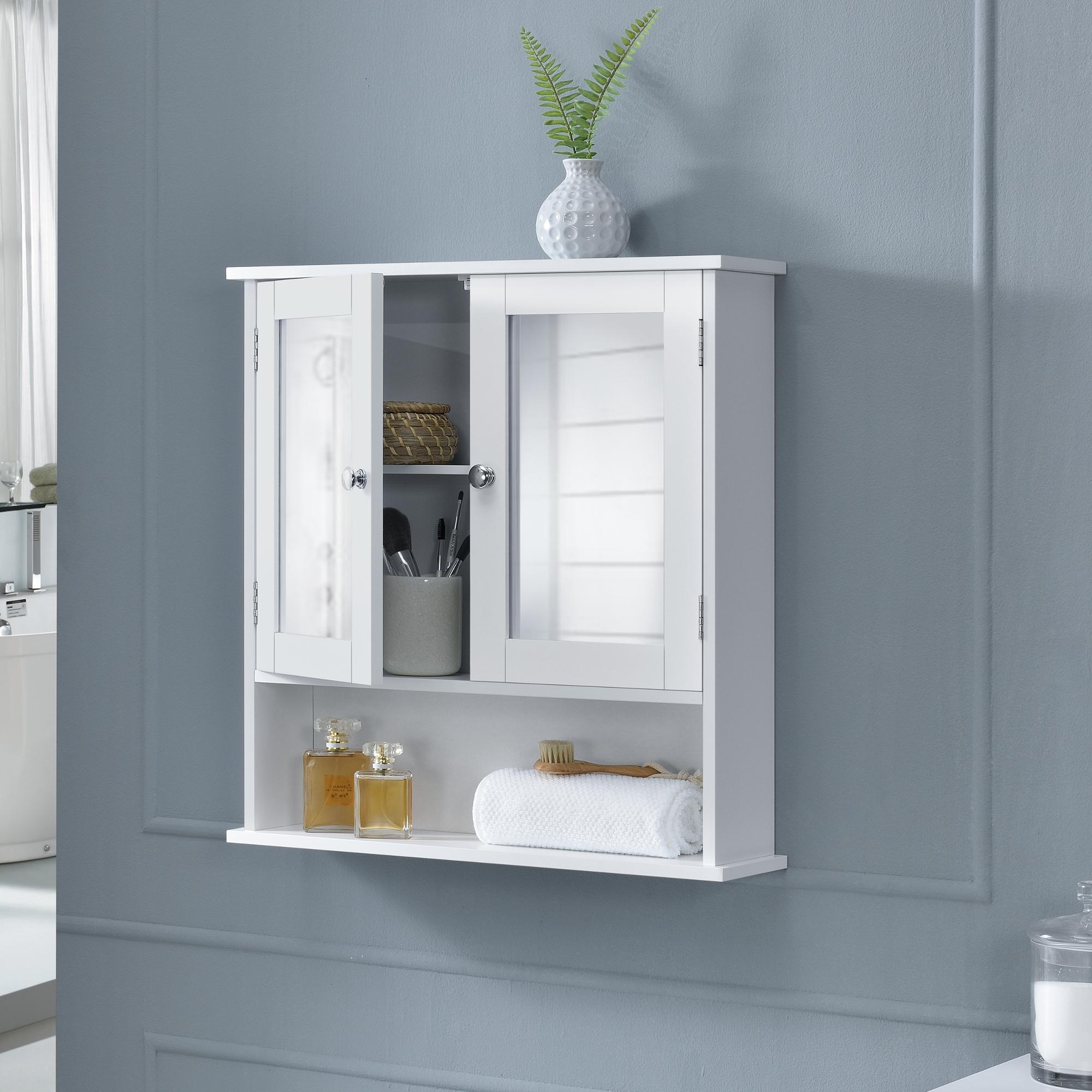 badezimmerschrank badschrank wandschrank schrank spiegel wei 58x56x13cm ebay. Black Bedroom Furniture Sets. Home Design Ideas