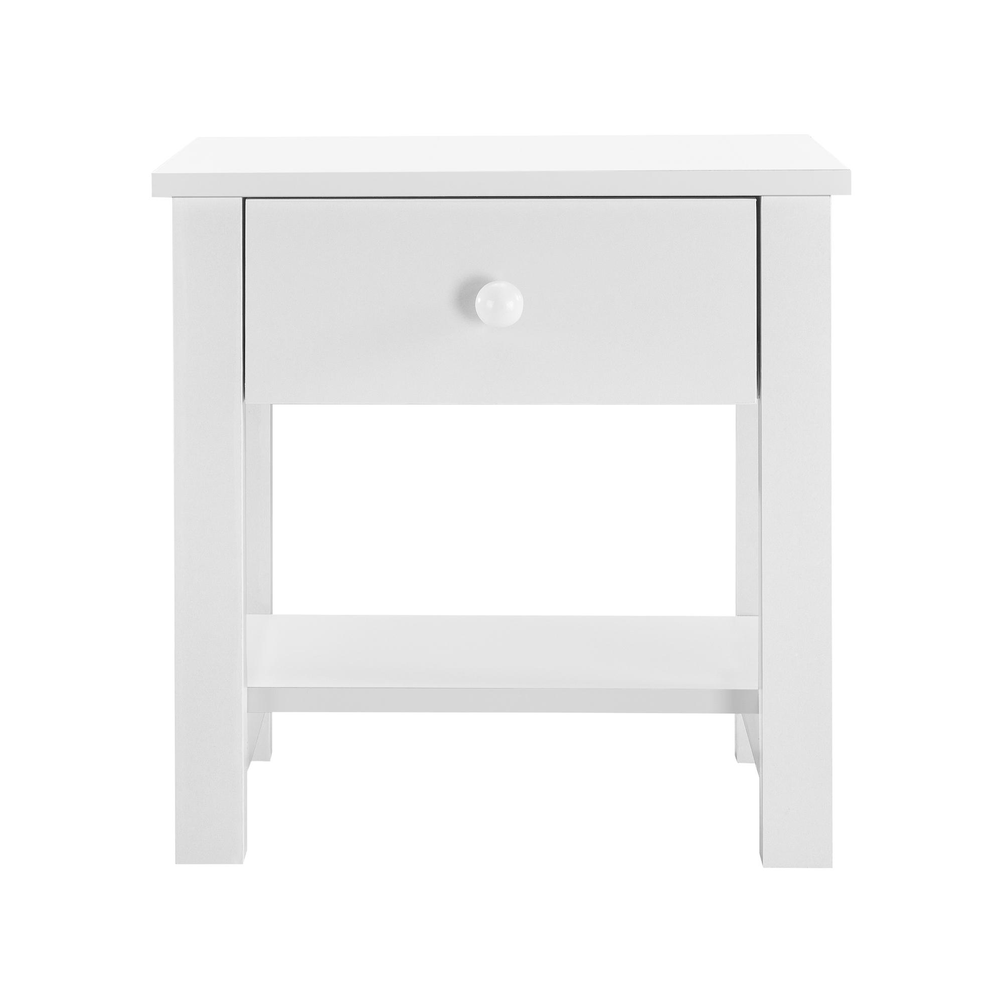 Details Sur En Casa Table De Chevet Table De Nuit Mdf 40x29 7x41 5cm Avec 1 Tiroir Blanc