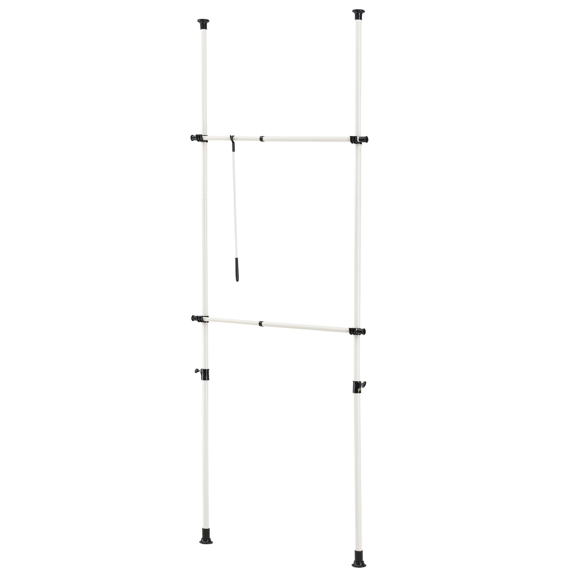 teleskop garderobe kleiderstange garderobenst nder stange kleiderschrank ebay. Black Bedroom Furniture Sets. Home Design Ideas