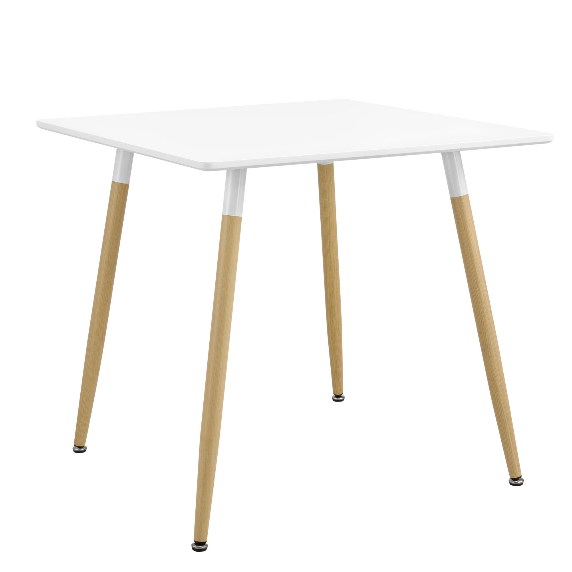 Tavolo Pranzo Art Deco dettagli su [en.casa] tavolo da pranzo 80x80x74cm tavolo da cucina da sala  bianco quadrato