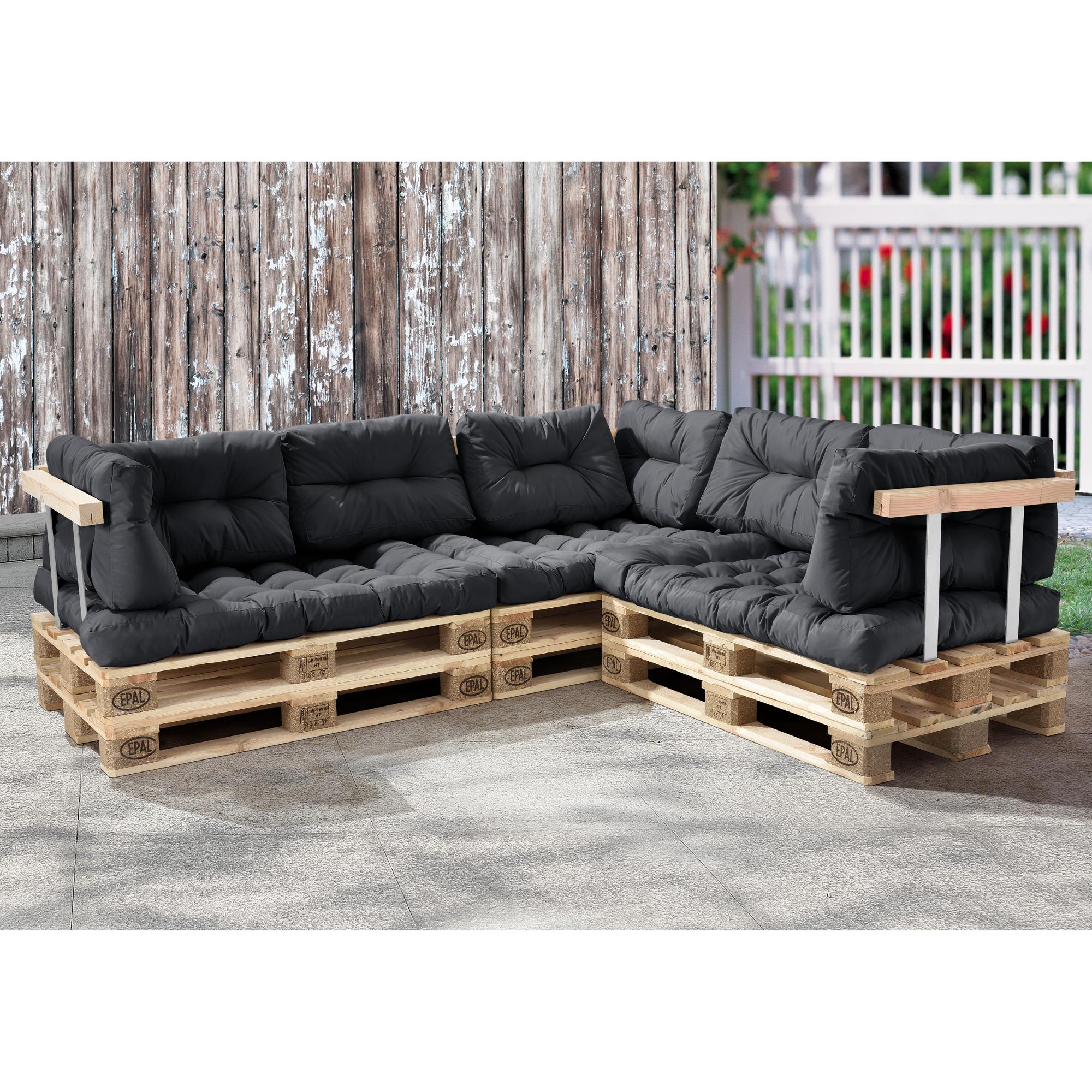 Euro paletten sofa 11x sitz r ckenkissen dunkelgrau for Couch auflage