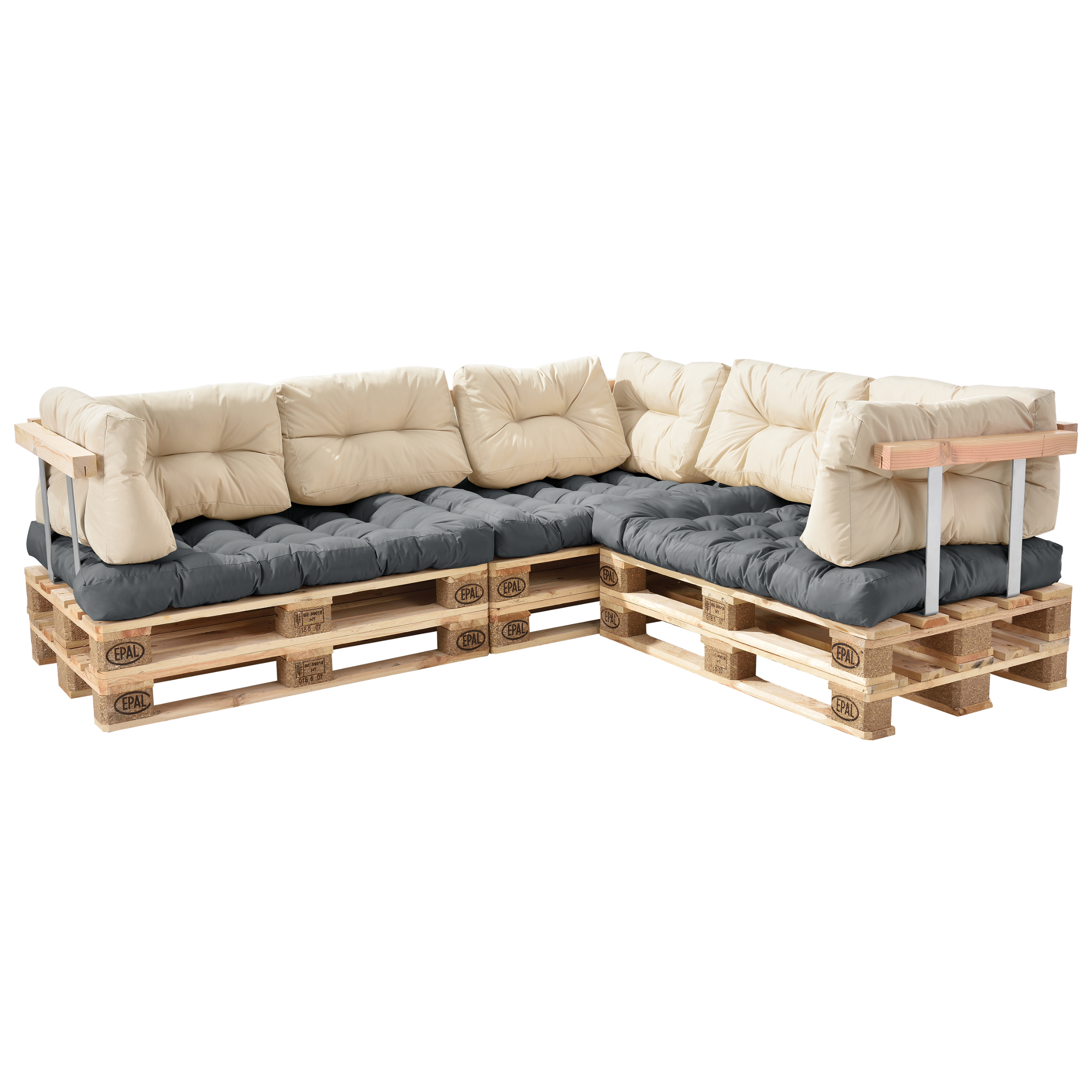 Palettenkissen in outdoor paletten kissen sofa for Colchoneta sofa exterior