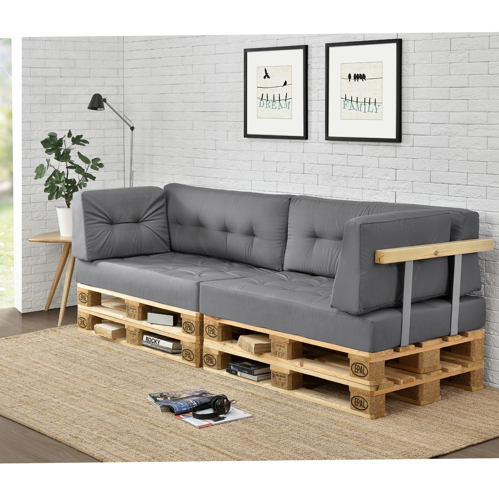 palettenkissen in outdoor paletten kissen sofa polster sitzauflage. Black Bedroom Furniture Sets. Home Design Ideas