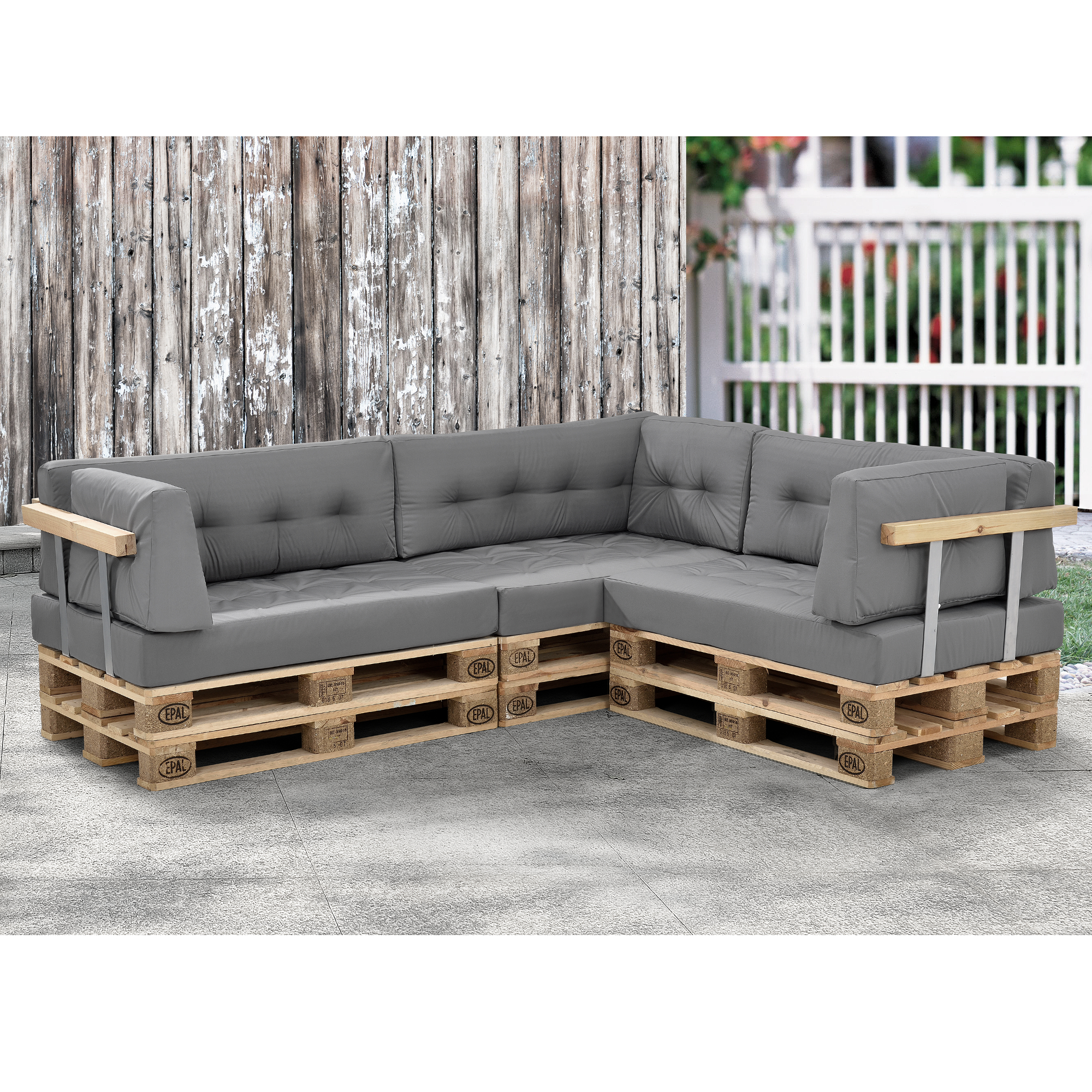 1 x seat pad pallet cushions in outdoor pallets - Sofas palets exterior ...