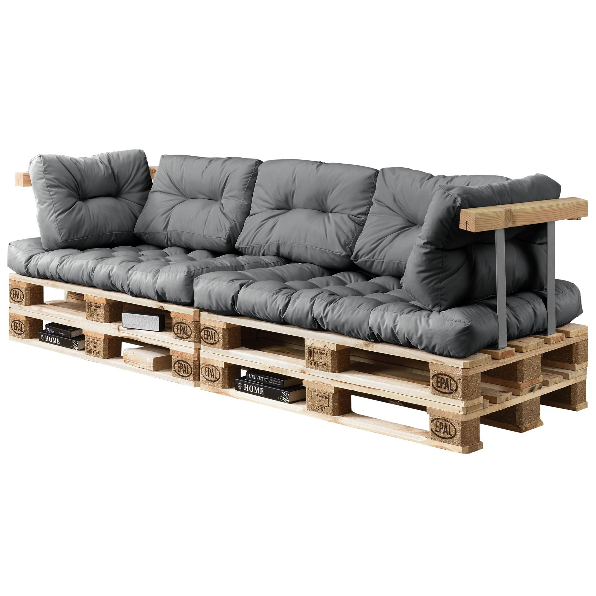 Euro pallet divano 7x sedia cuscino schienale grigio chiaro fondello - Divano pallet schienale ...