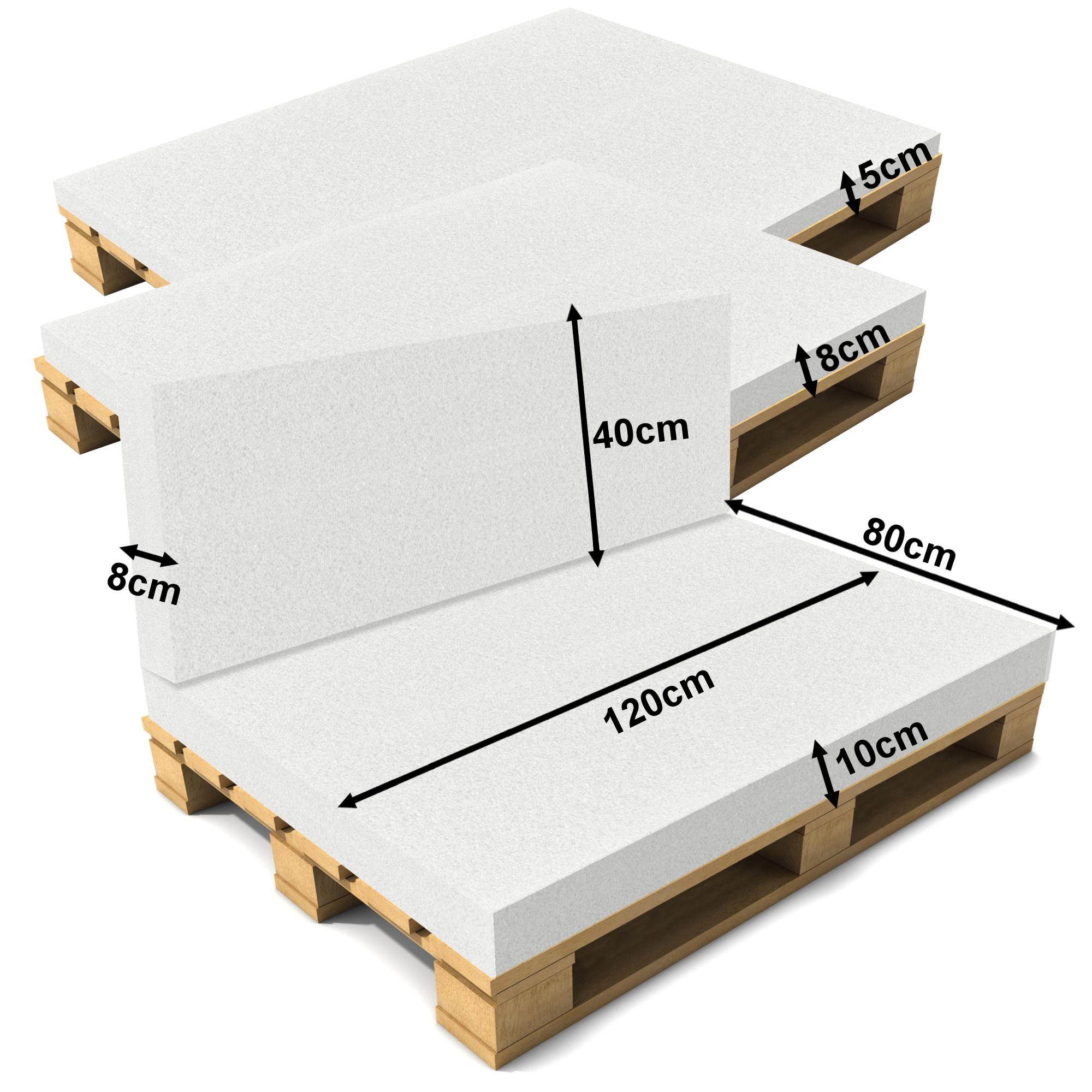 schaumstoff 120x80cm matratze palettenauflage palettenkissen polster ebay. Black Bedroom Furniture Sets. Home Design Ideas