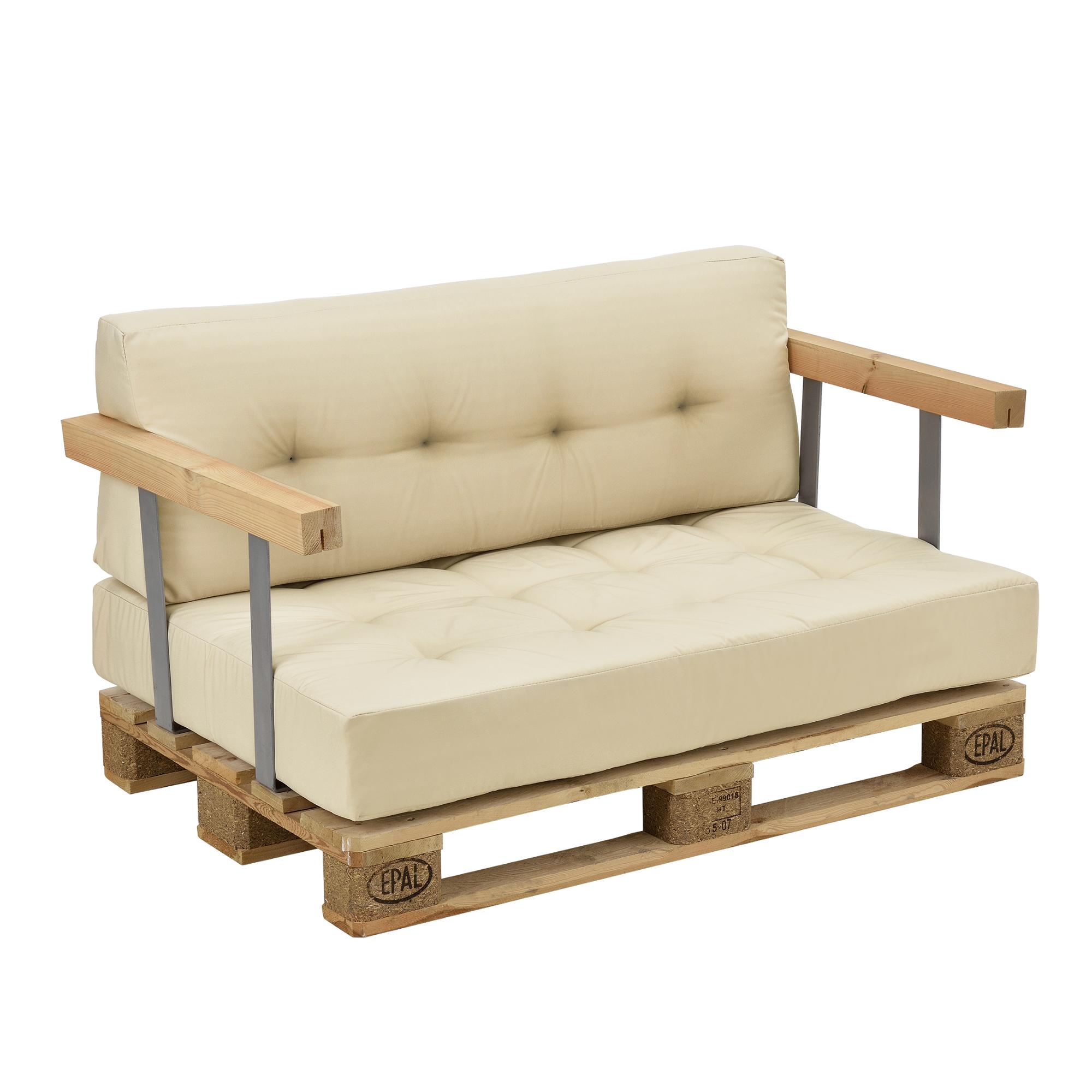 euro paletten sofa beige 2 sitzer mit paletten. Black Bedroom Furniture Sets. Home Design Ideas