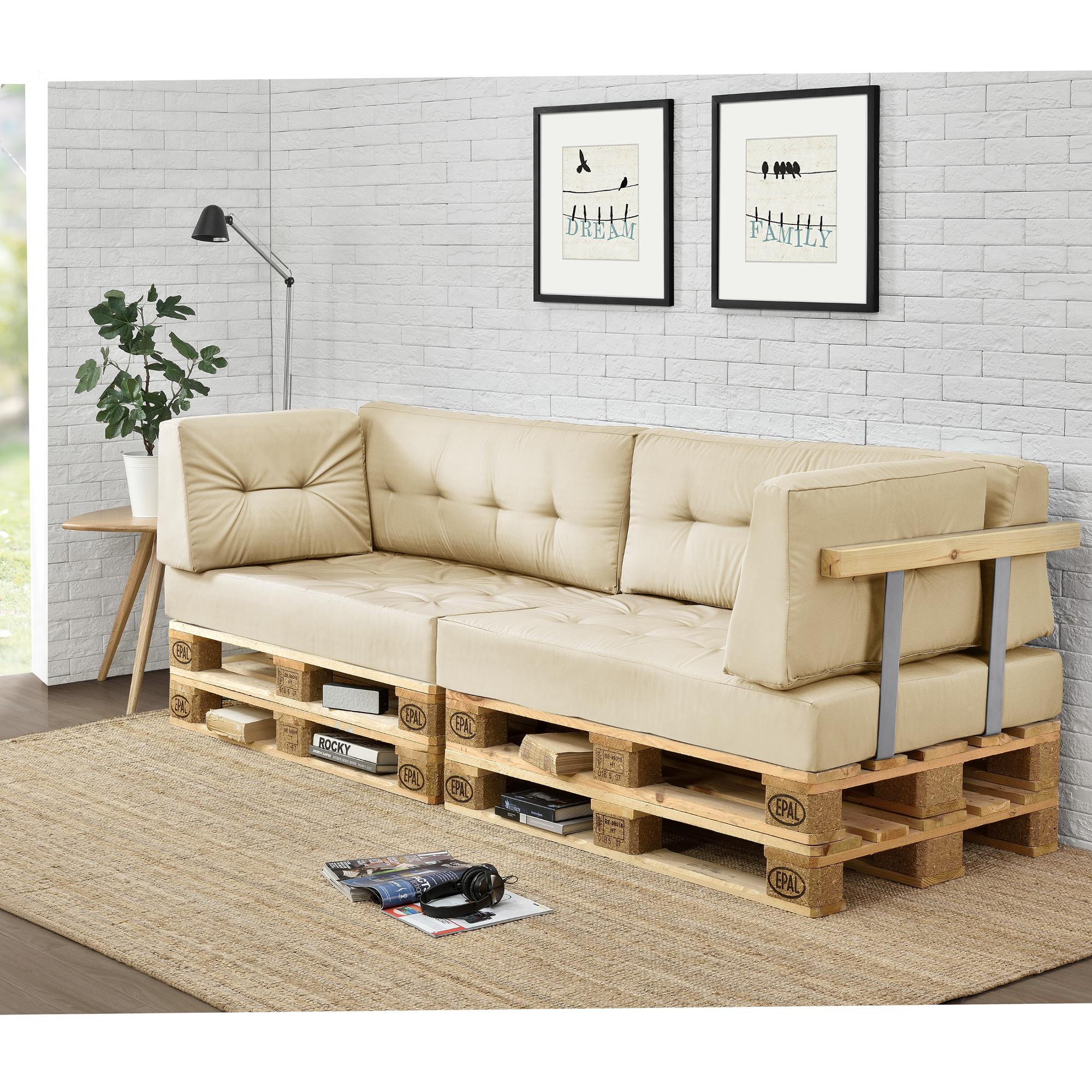 Palettenkissen in outdoor paletten kissen sofa for Sofa para exterior