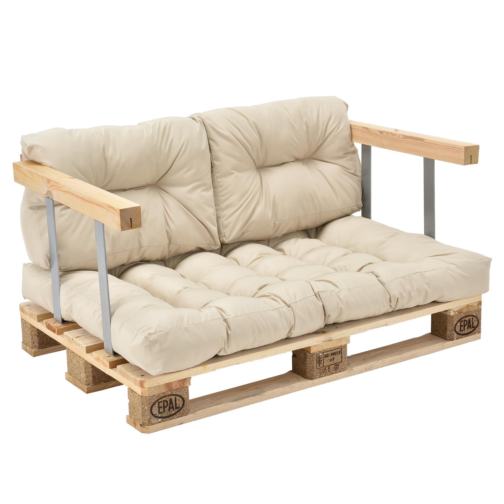 canap d angle en palettes 3x coussin de si ge dossier beige ebay. Black Bedroom Furniture Sets. Home Design Ideas