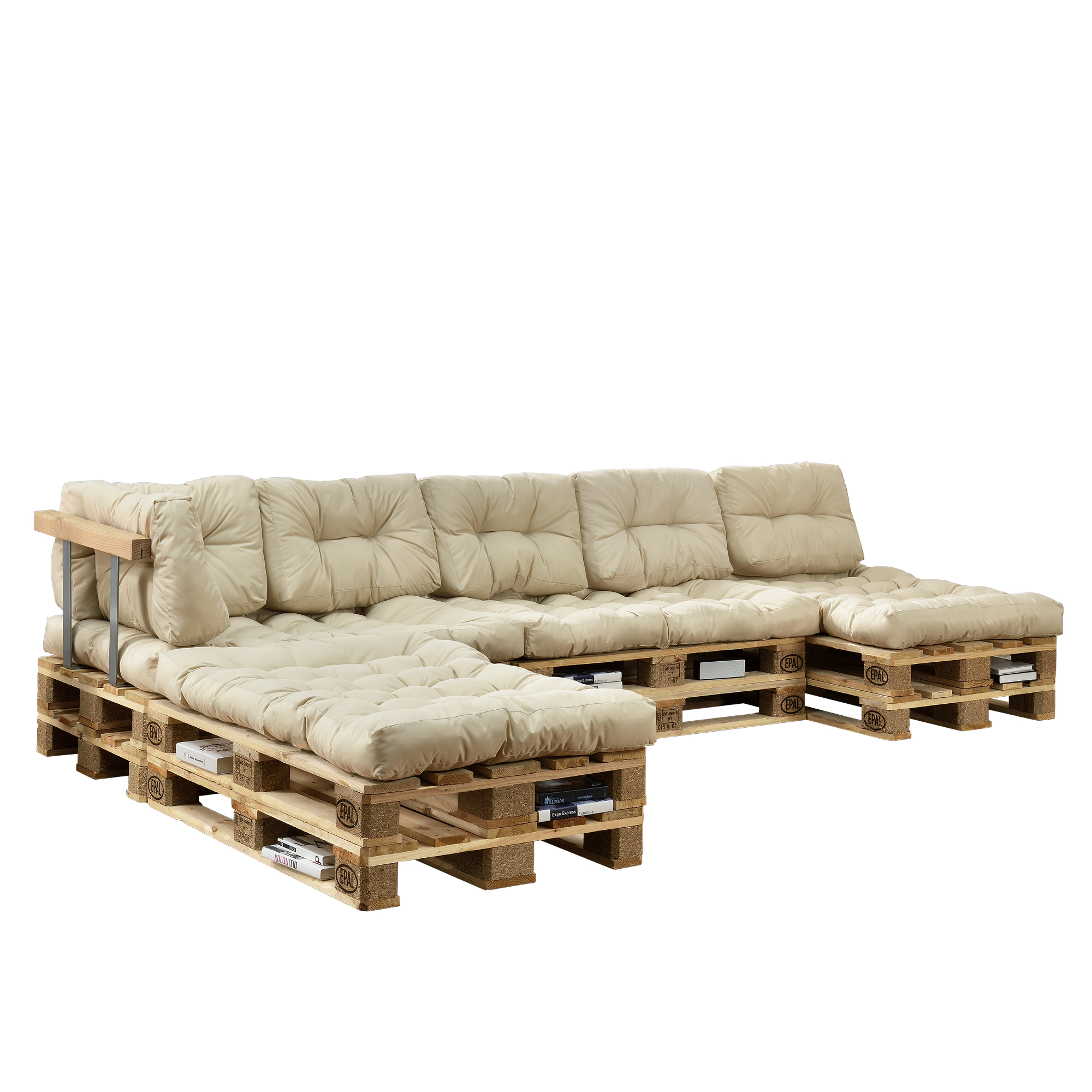 Euro Pallets Sofa Set Beige Indoor Cushion Pad Edition Seat Cushion Ebay