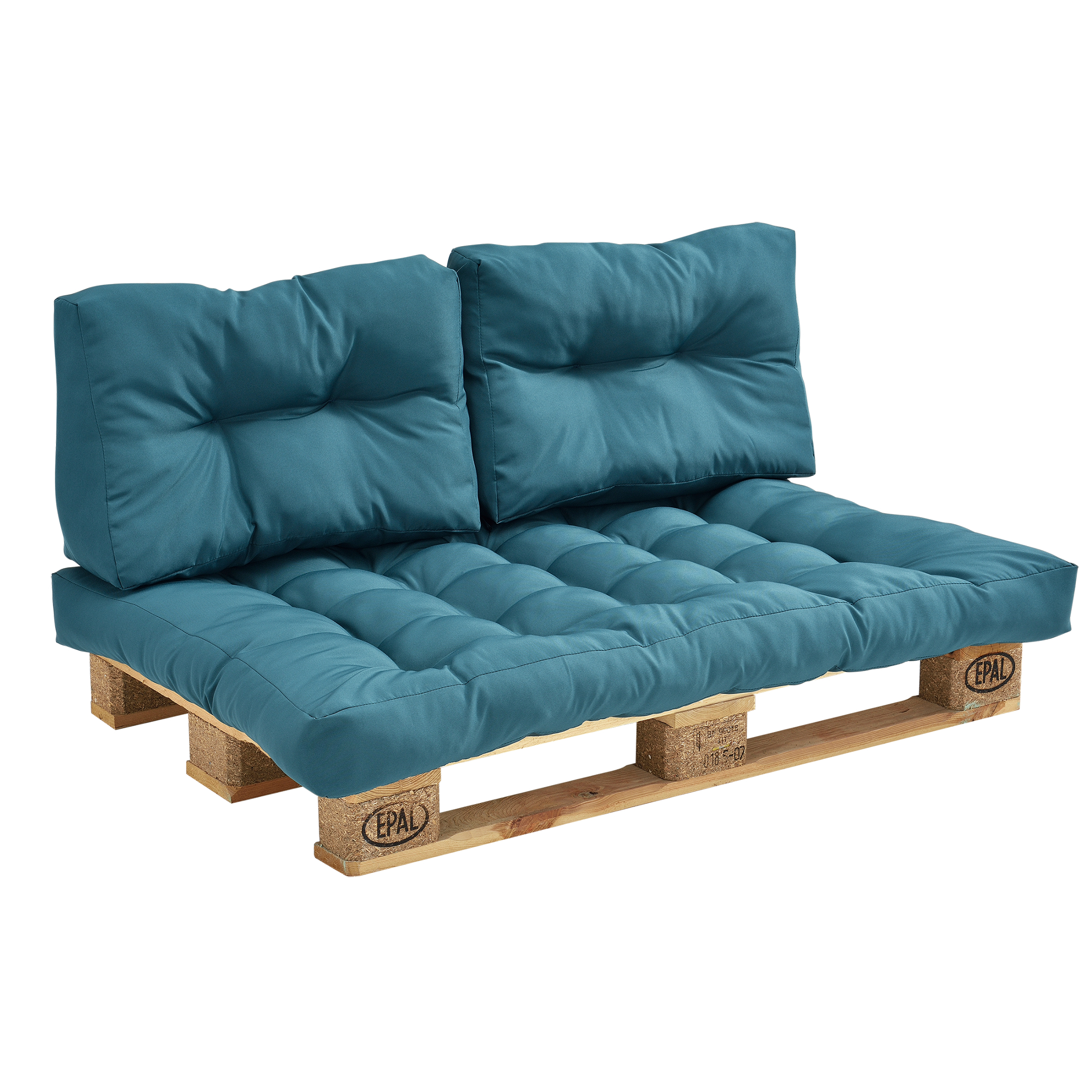 pallet cushions in outdoor sofa padding seat. Black Bedroom Furniture Sets. Home Design Ideas