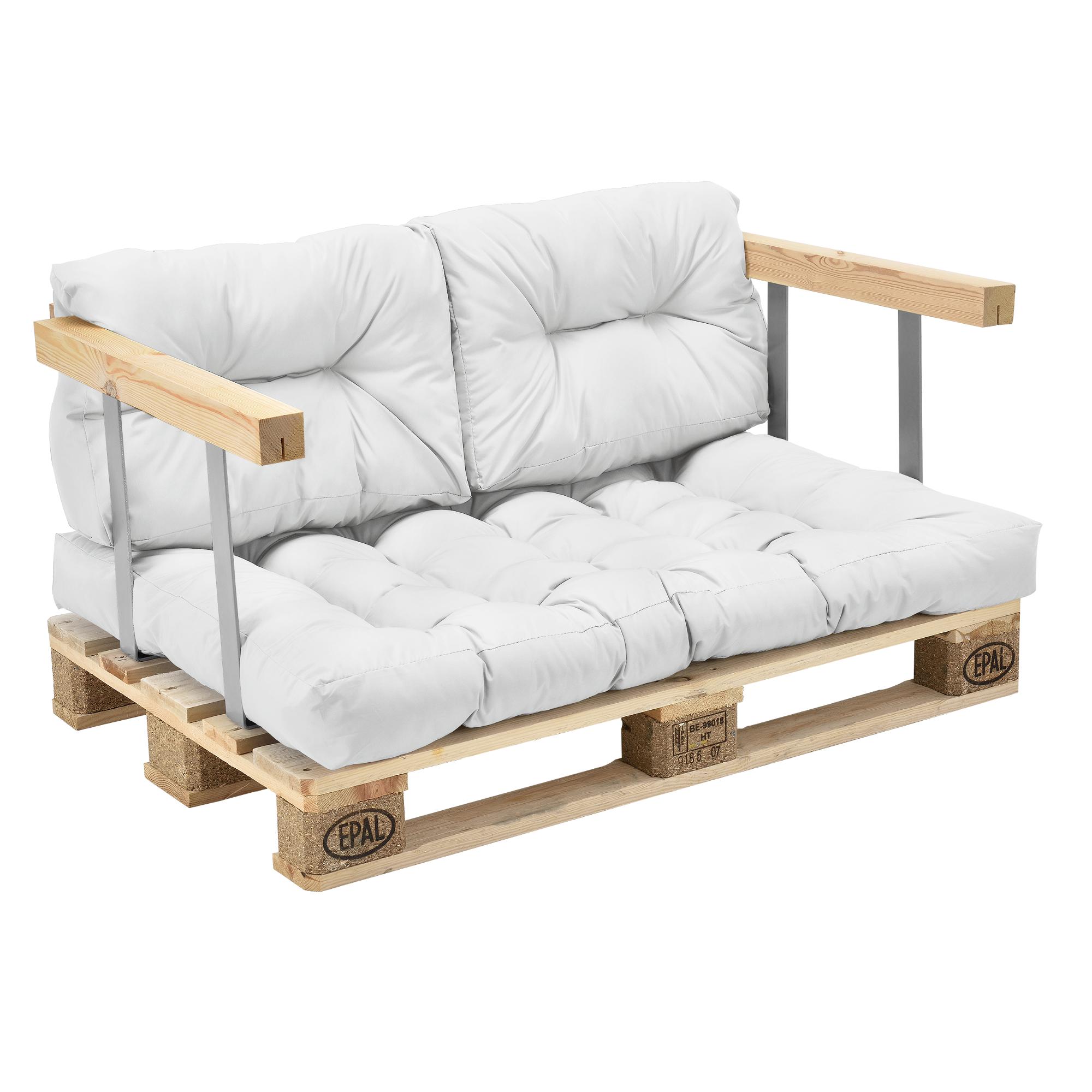 Set de 3 cojines para sof pal de asiento y - Cojines para sofas de jardin ...