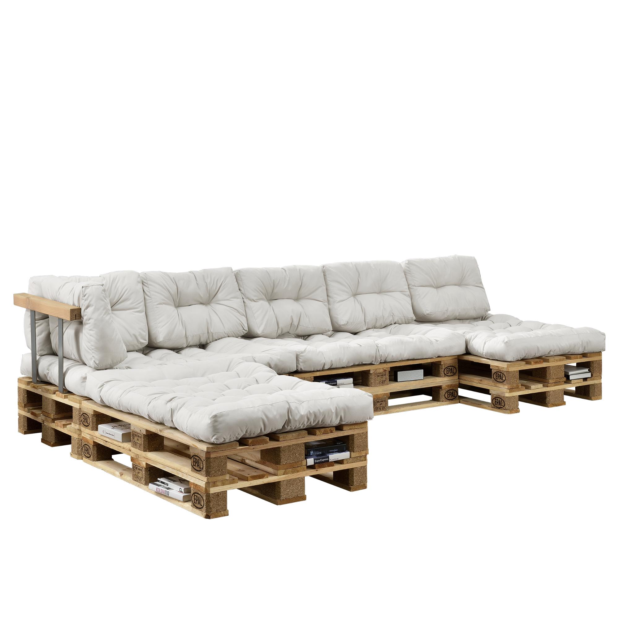 euro palettes canap set blanc int rieur. Black Bedroom Furniture Sets. Home Design Ideas