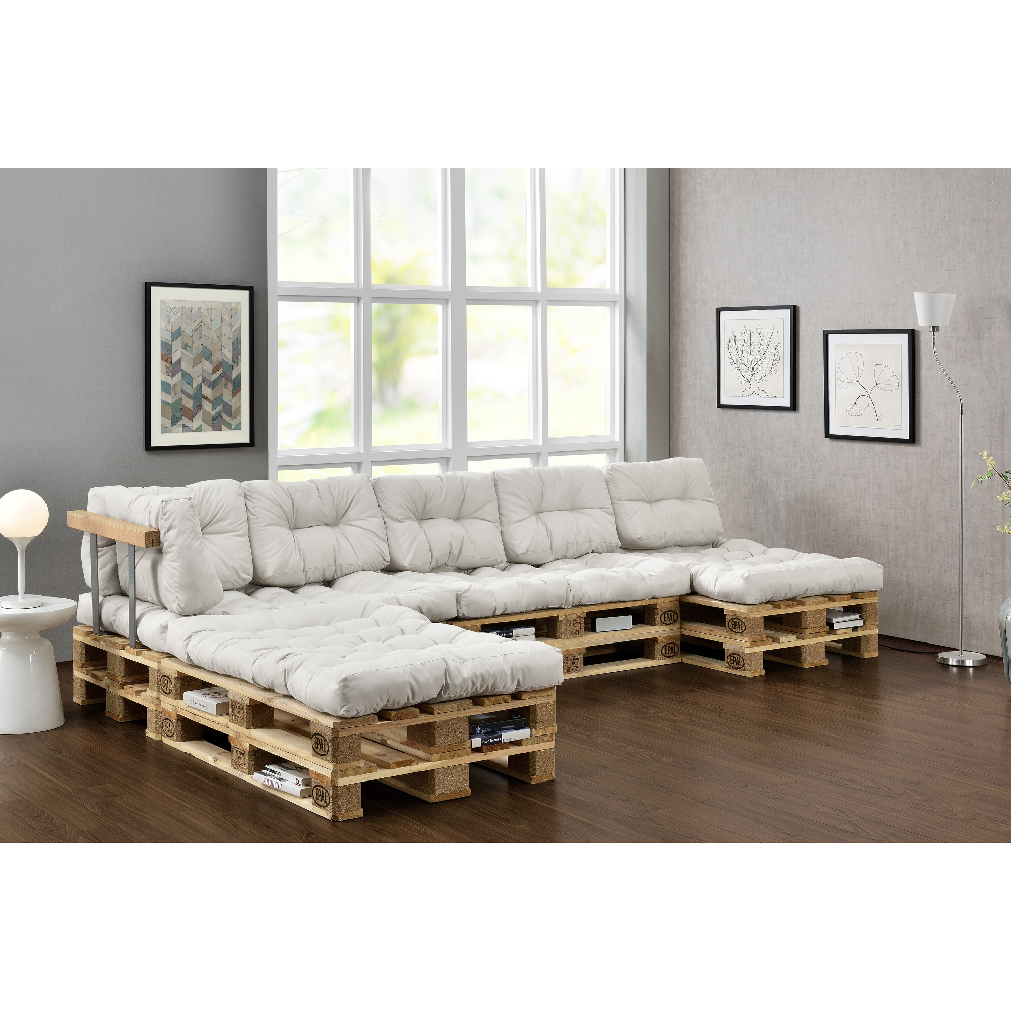 euro palettes canap set blanc int rieur coussin dition de si ge ebay. Black Bedroom Furniture Sets. Home Design Ideas