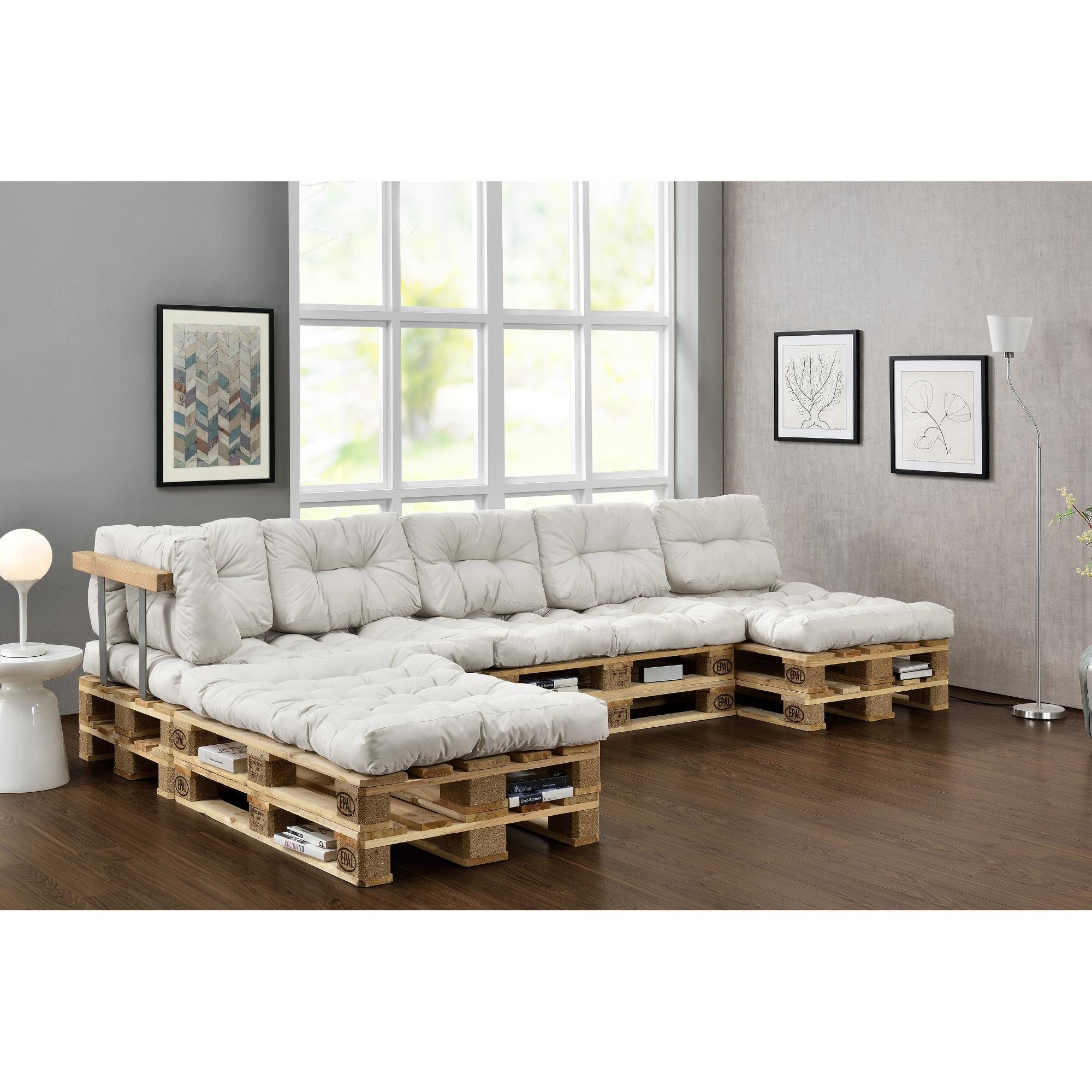 Cojines 4x asiento 6x respaldo para sof de for Sofa europaletten