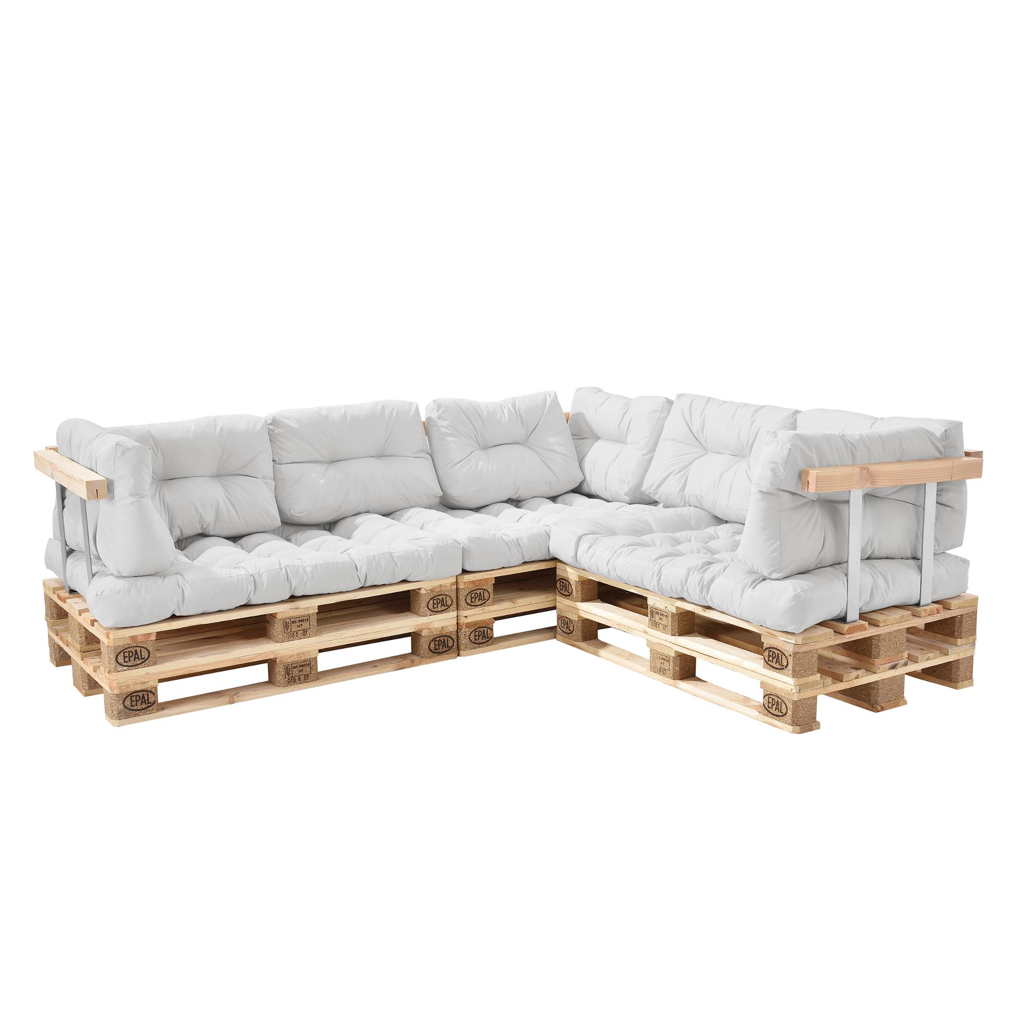 euro palettes canap coussin blanc d 39 angle rembourrage maigre ebay. Black Bedroom Furniture Sets. Home Design Ideas