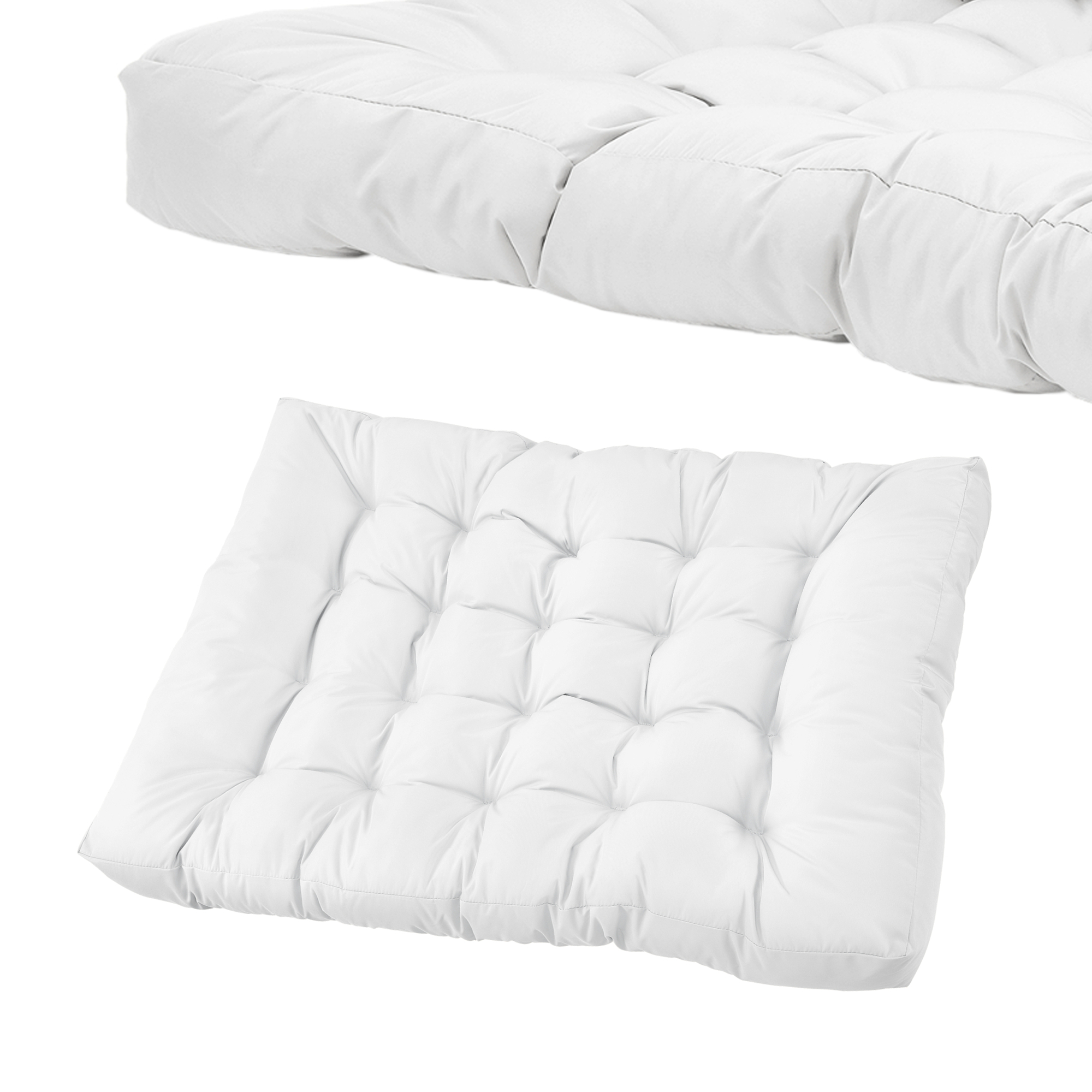 euro palettes canap coussin blanc d 39 angle. Black Bedroom Furniture Sets. Home Design Ideas