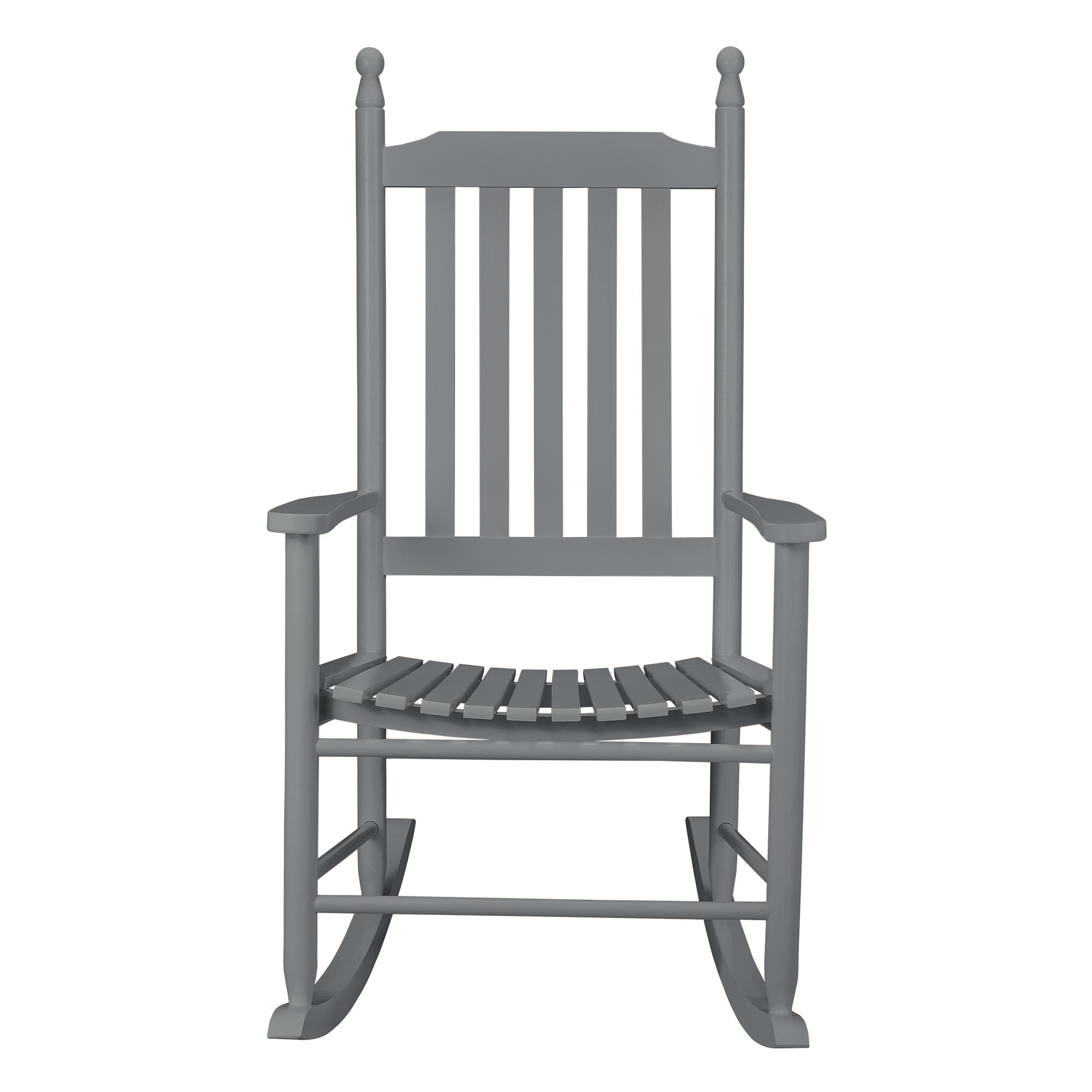 CasaproR Rocking Chair Texas Gris Siege Chaise A Bascule Balancoire