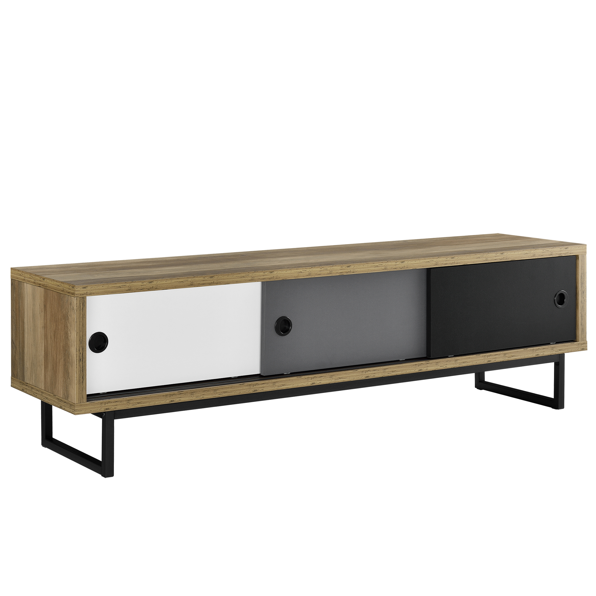 lowboard mit schiebet ren fernsehtisch kommode. Black Bedroom Furniture Sets. Home Design Ideas