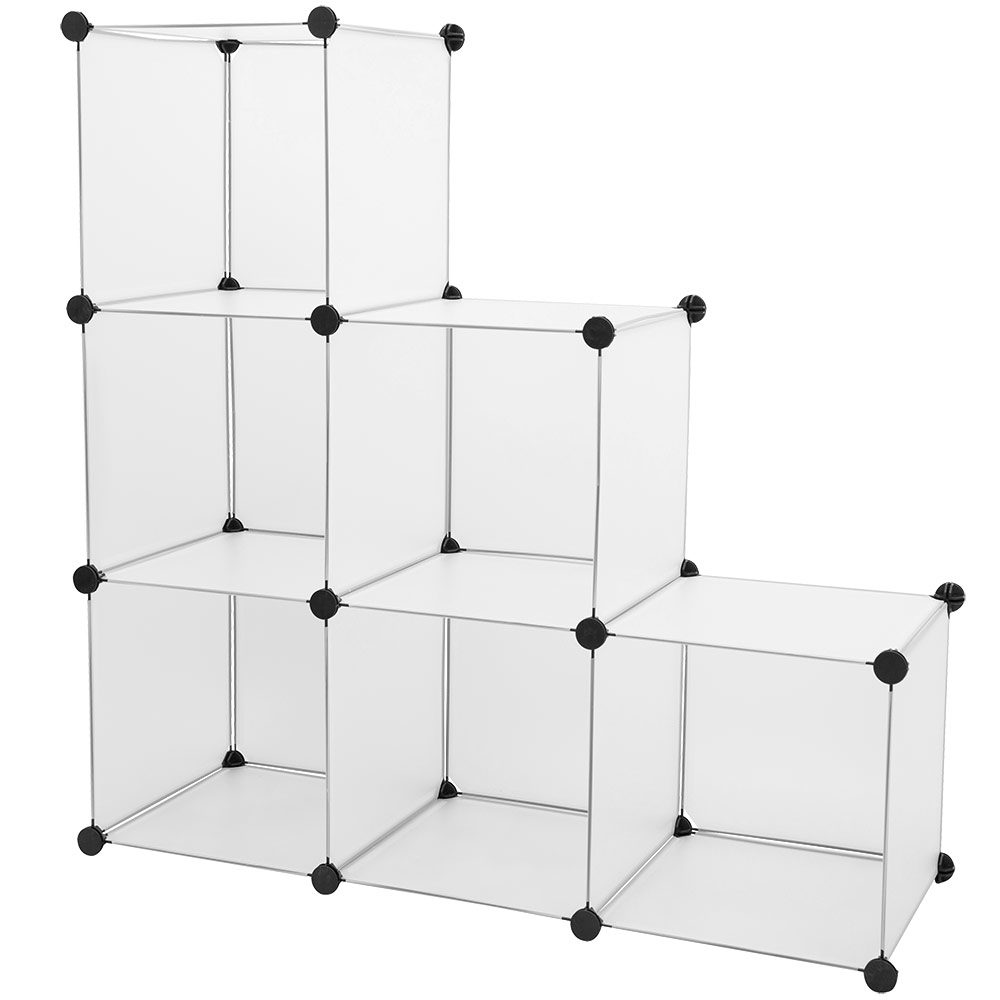 Regalsystem holz mit türen  NEU.HAUS® System Regal Schrank Wäsche Garderobe Schwarz/Weiß Steck ...