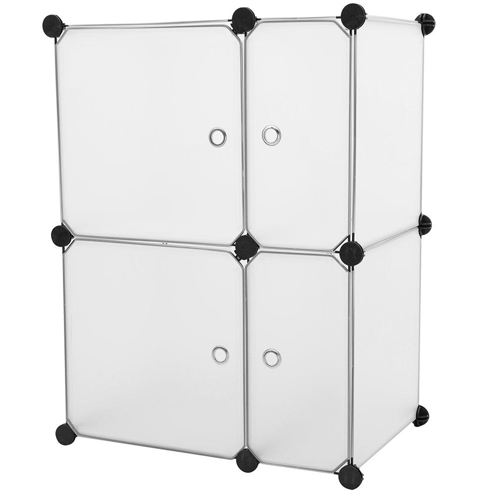 NEUHAUS® DIY System Regal Schrank + Türen 73x56cm Garderobe Weiß ...