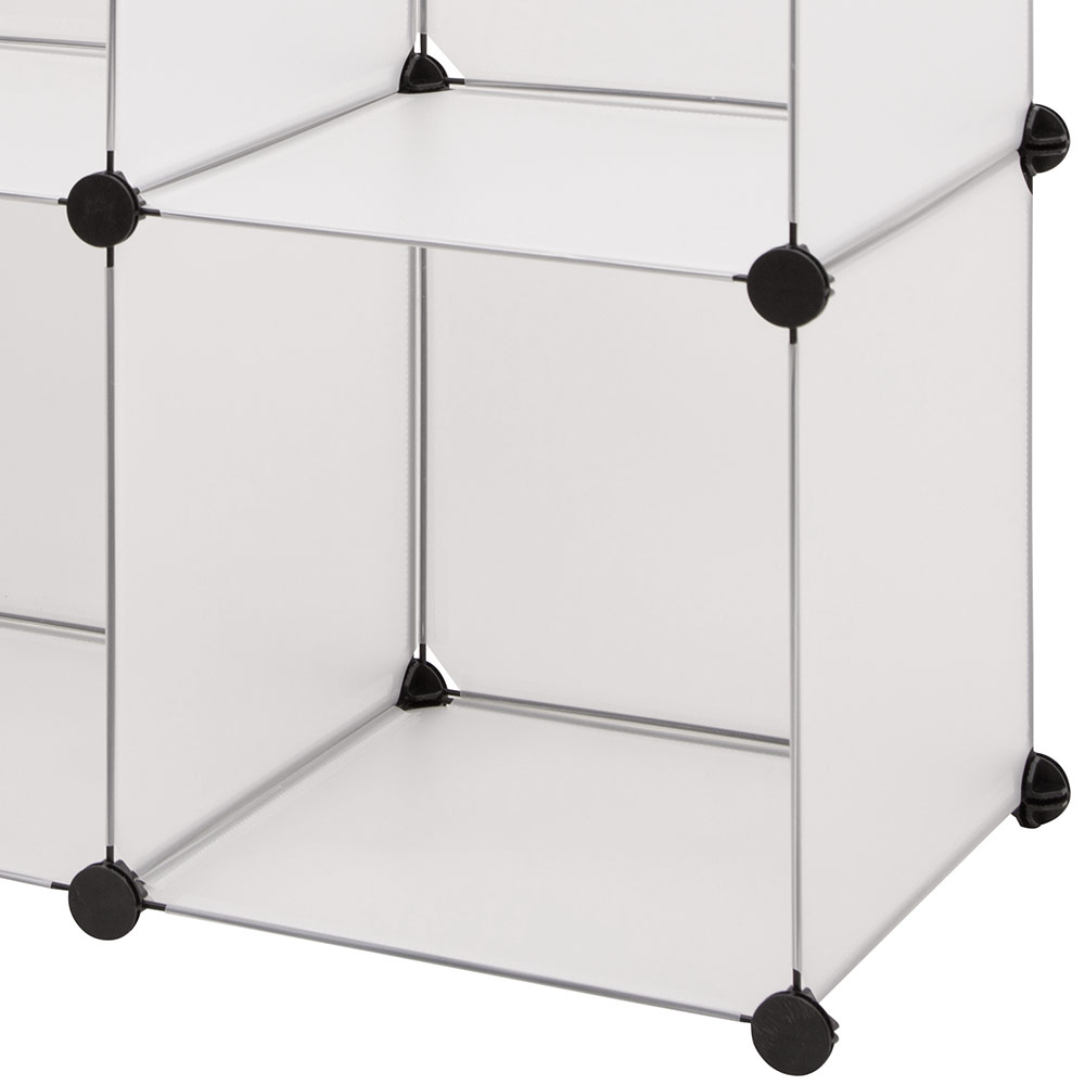systemregal schrank 112x112cm wei steck diy kommode kleiderschrank ebay. Black Bedroom Furniture Sets. Home Design Ideas