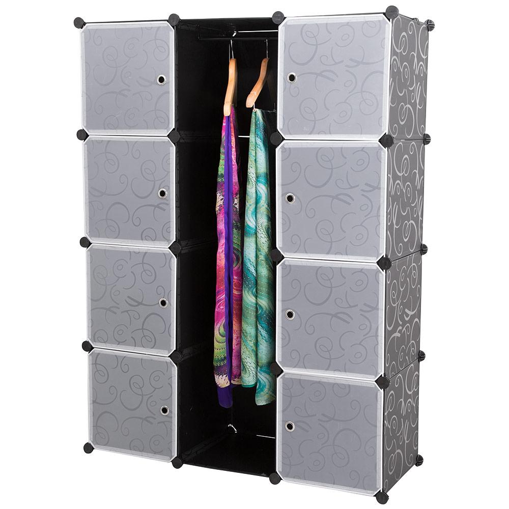 neuhaus system regal schrank 10 t ren 180x110cm schwarz wei steck b ro b cher ebay. Black Bedroom Furniture Sets. Home Design Ideas