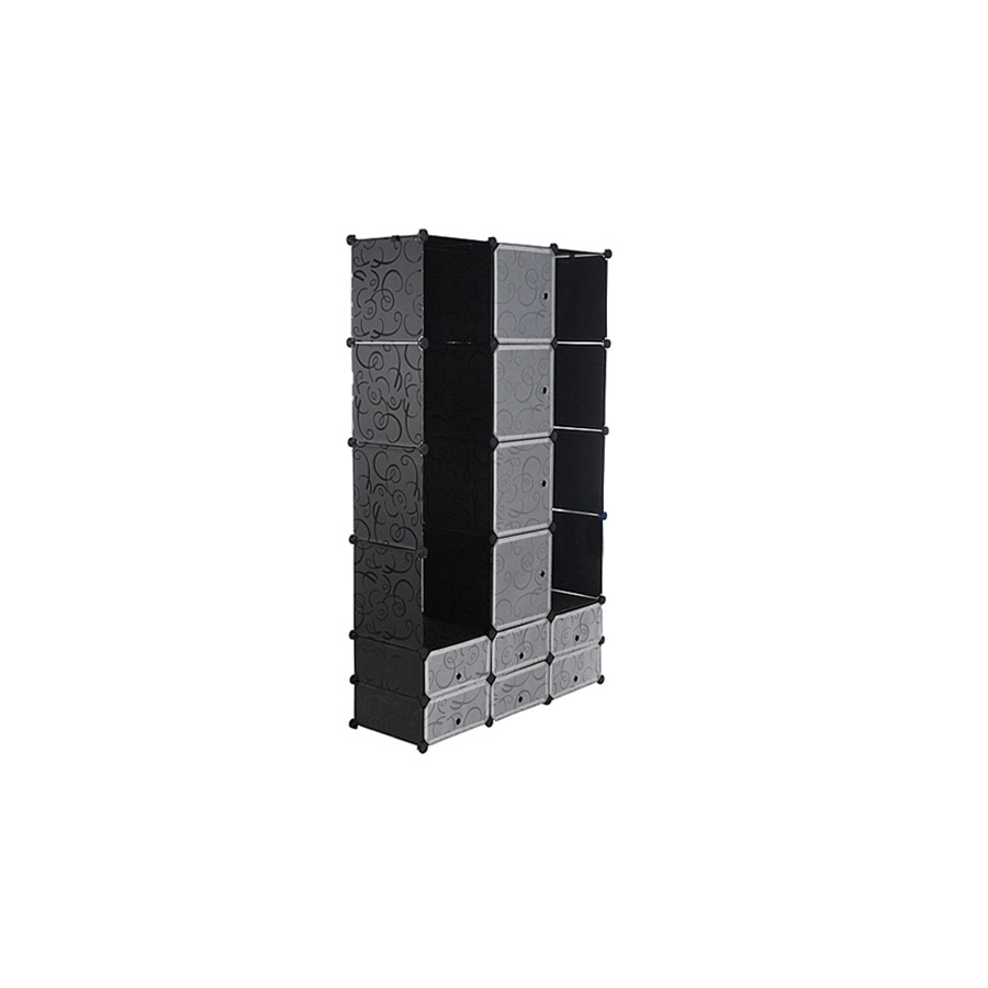 neuhaus system regal schrank 10 t ren 180x110cm schwarz wei steck b ro b cher ebay. Black Bedroom Furniture Sets. Home Design Ideas