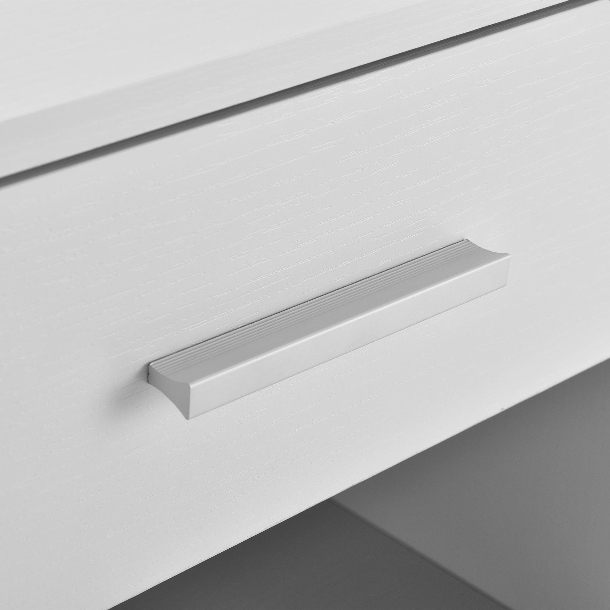 [ensa] Nachttisch mit Schublade Weiß Nachtkommode