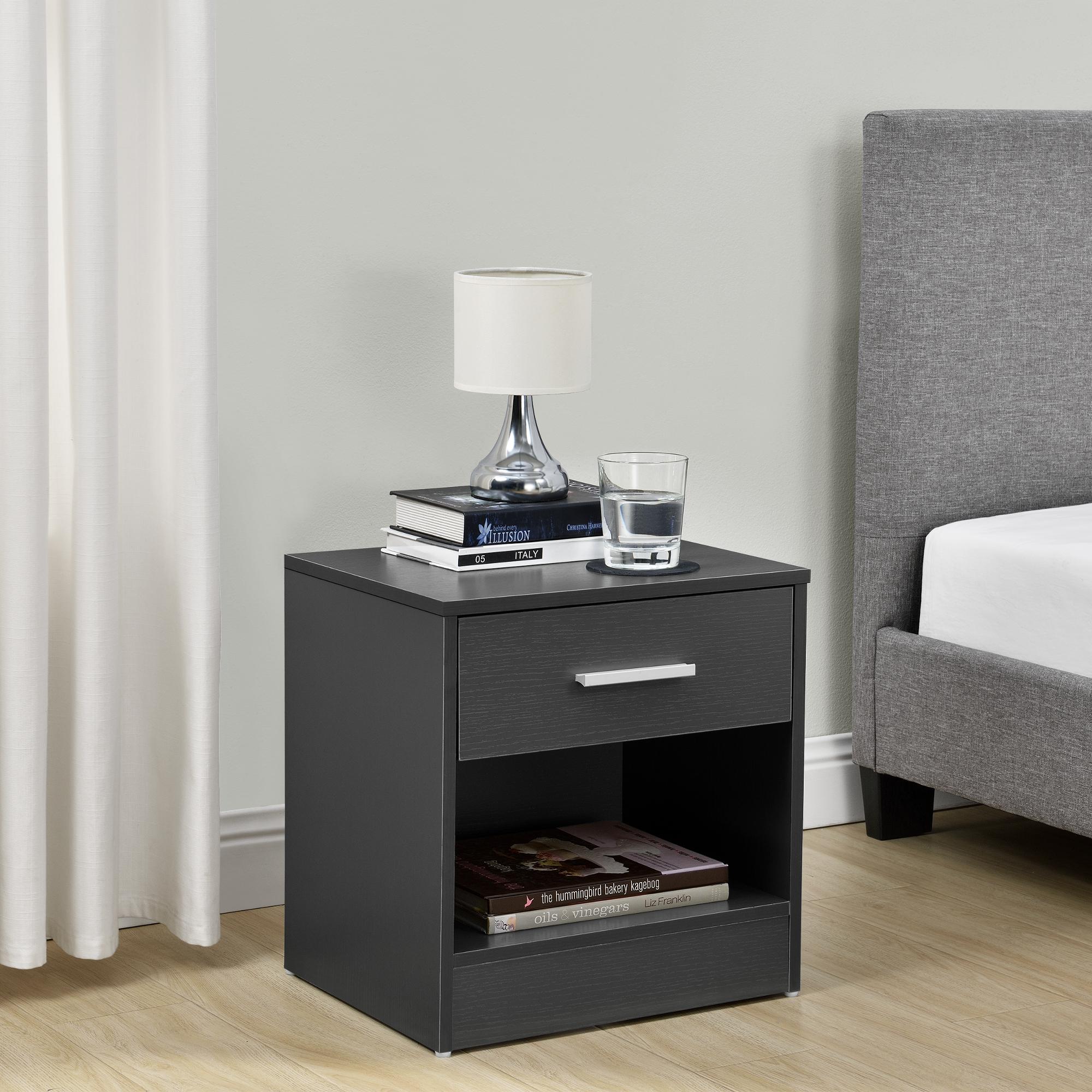nachttisch mit schublade grau nachtkommode beistelltisch ablage ebay