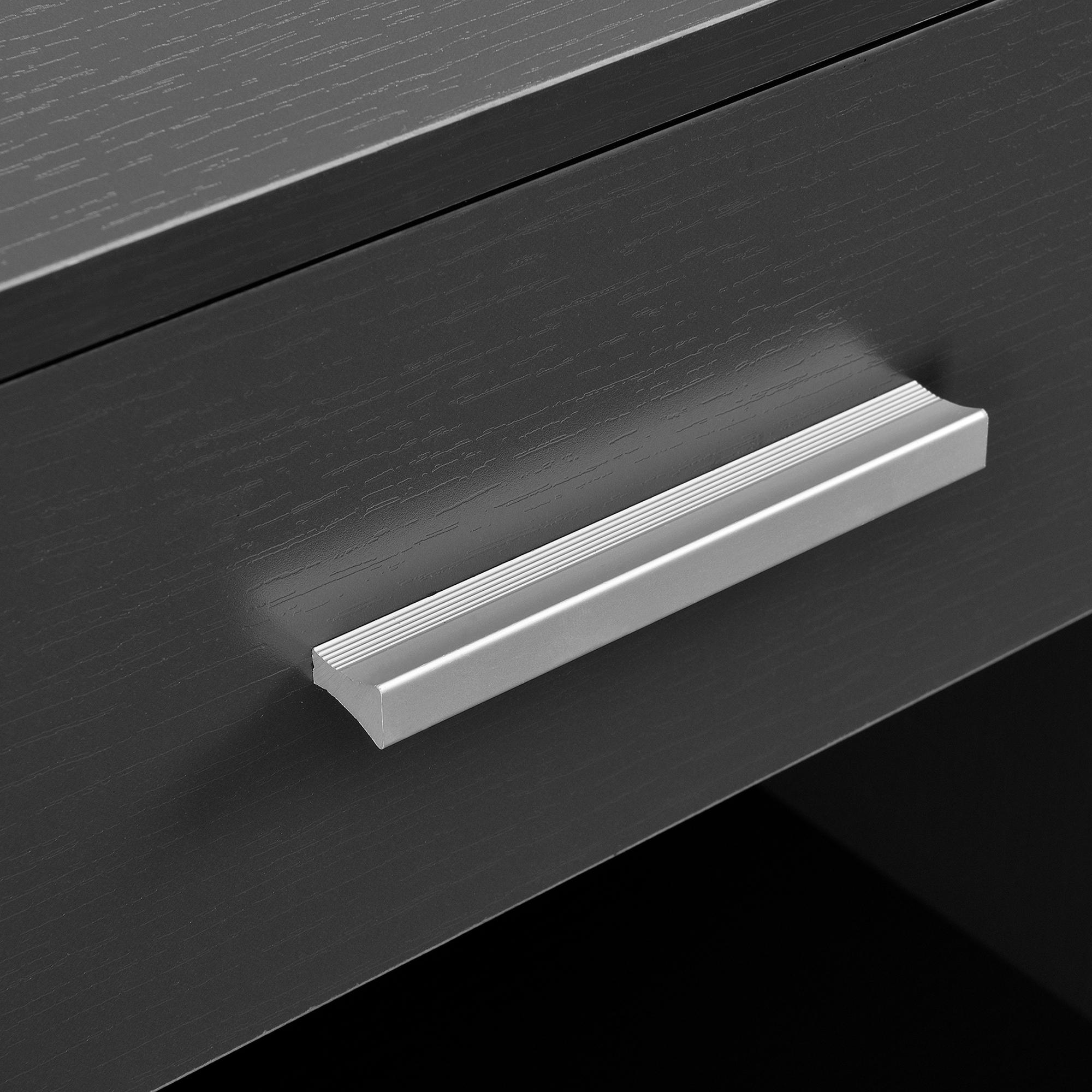 [ensa] Nachttisch mit Schublade Grau Nachtkommode