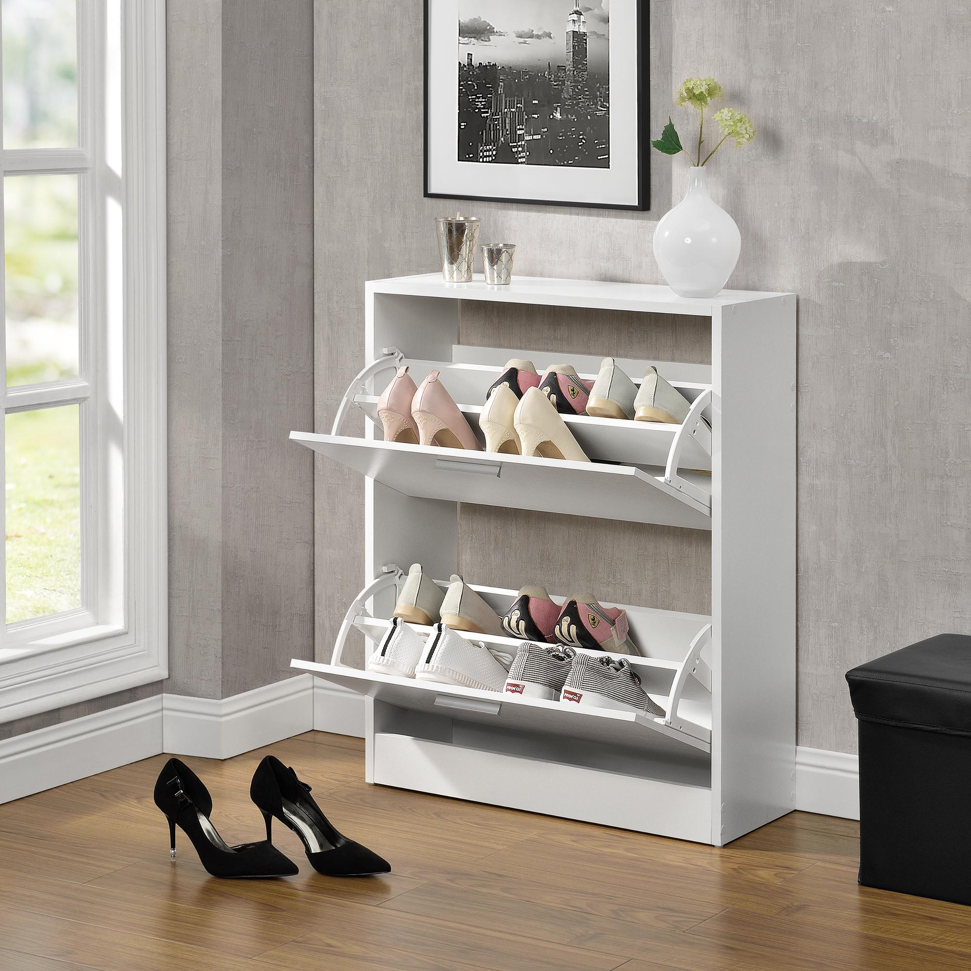 Schuhschrank Mit 2 Türen   Weiß