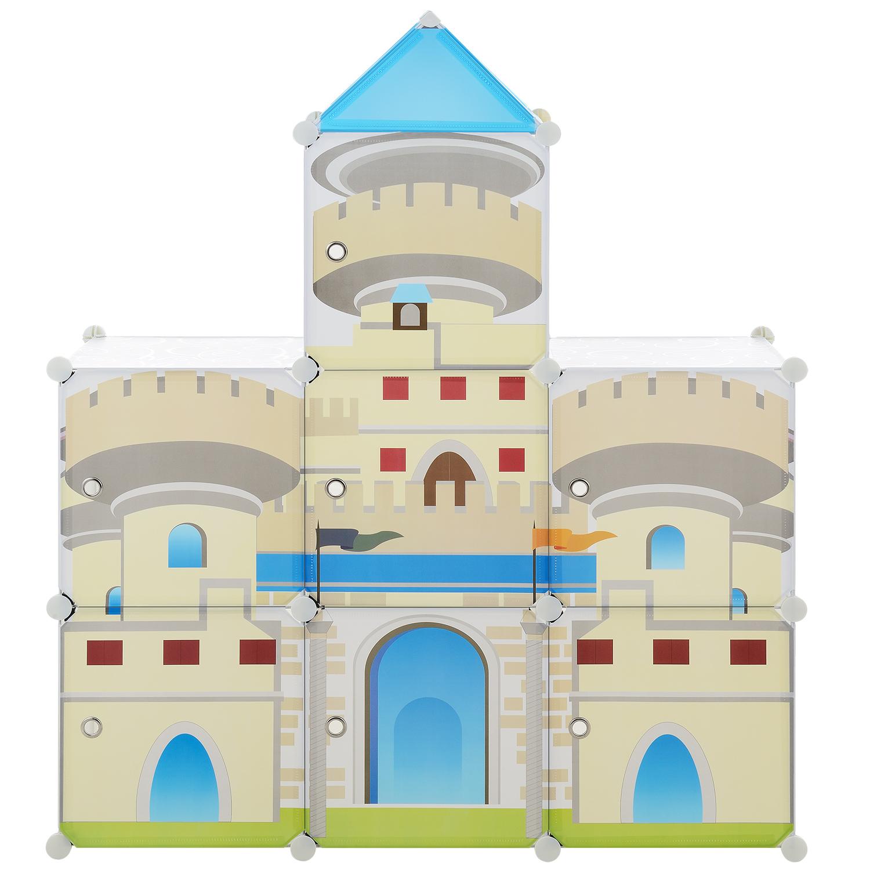 neu-haus-Kinder-System-Regal-Schrank-Tueren-129-5x111cm-DIY-Steck-Kommode-Zimmer