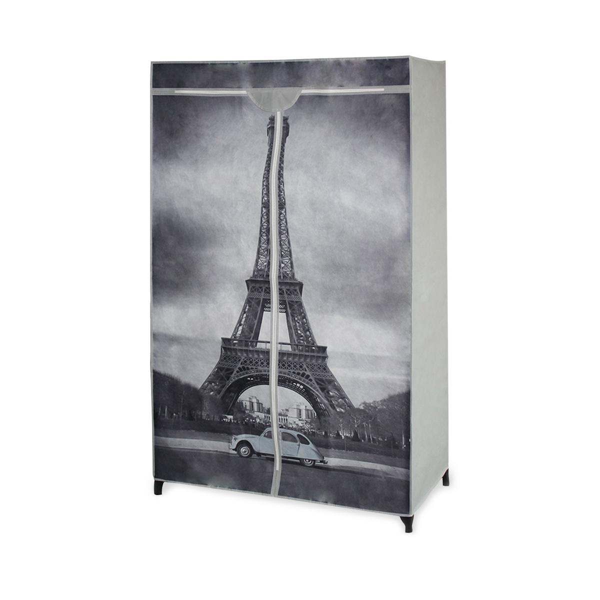 """[neu.holz]® Šatní látková skříň - """"Eiffelova věž"""""""