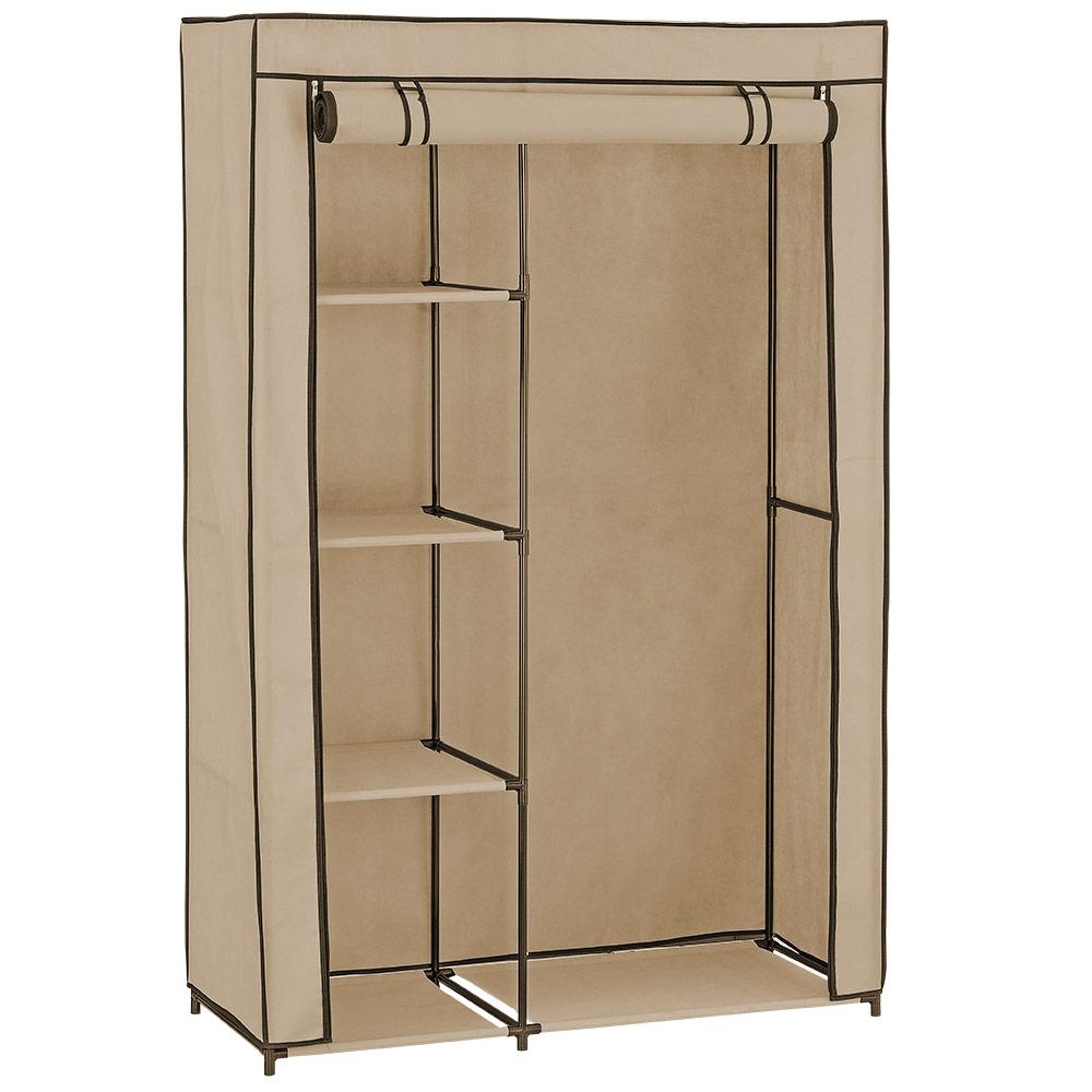 NEU.HAUS]® Kleiderschrank Stoff Falt Schrank Wohnzimmer Garderobe ...