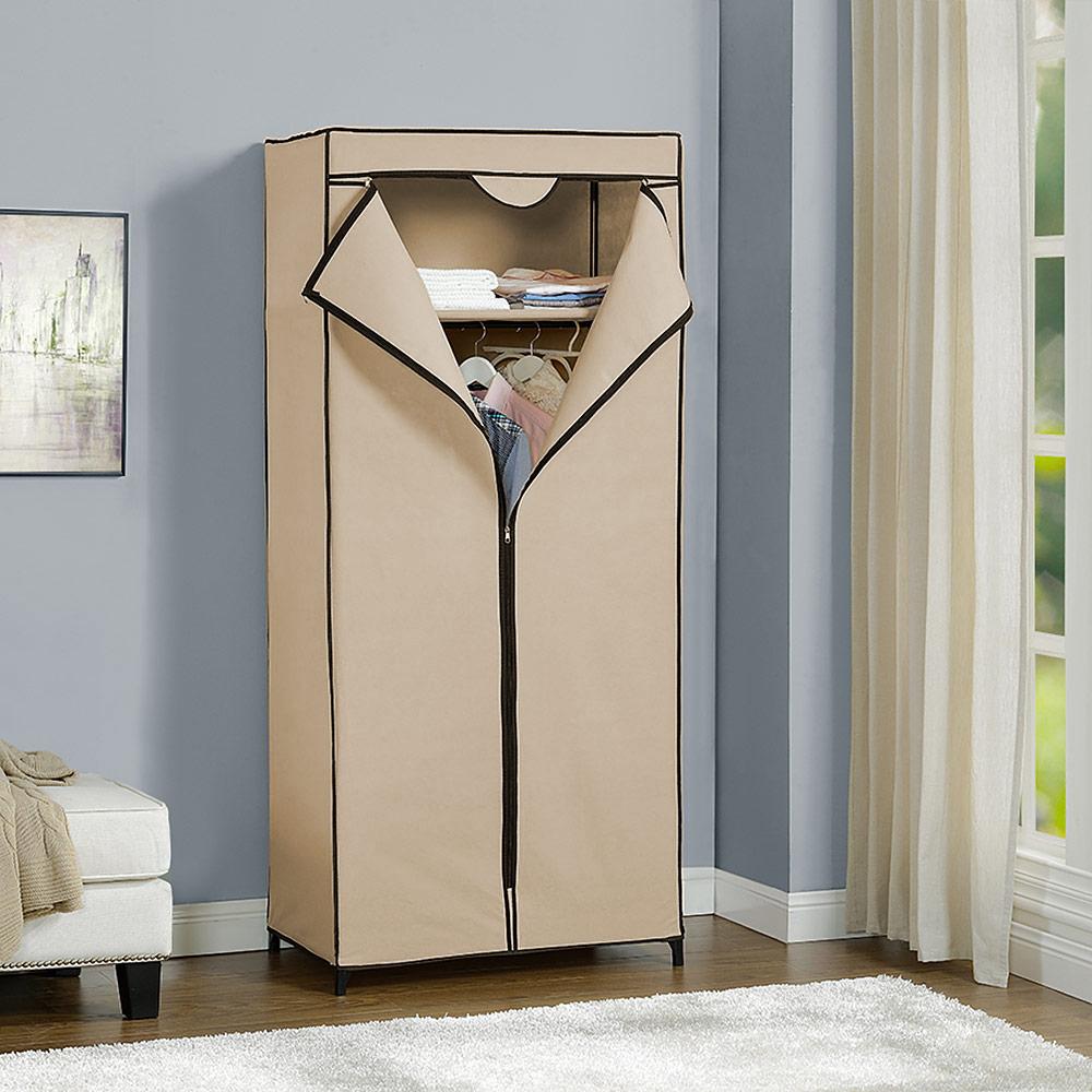 NEU.HOLZ® Kleiderschrank Stoff Falt Schrank Wohnzimmer Garderobe ...