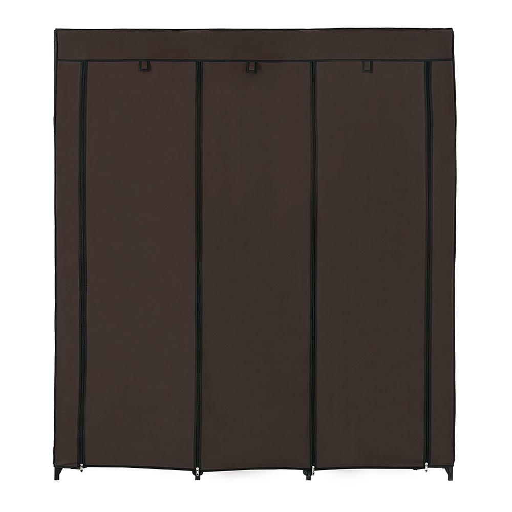 neu holz kleiderschrank stoff falt schrank wohnzimmer garderobe vintage london ebay. Black Bedroom Furniture Sets. Home Design Ideas