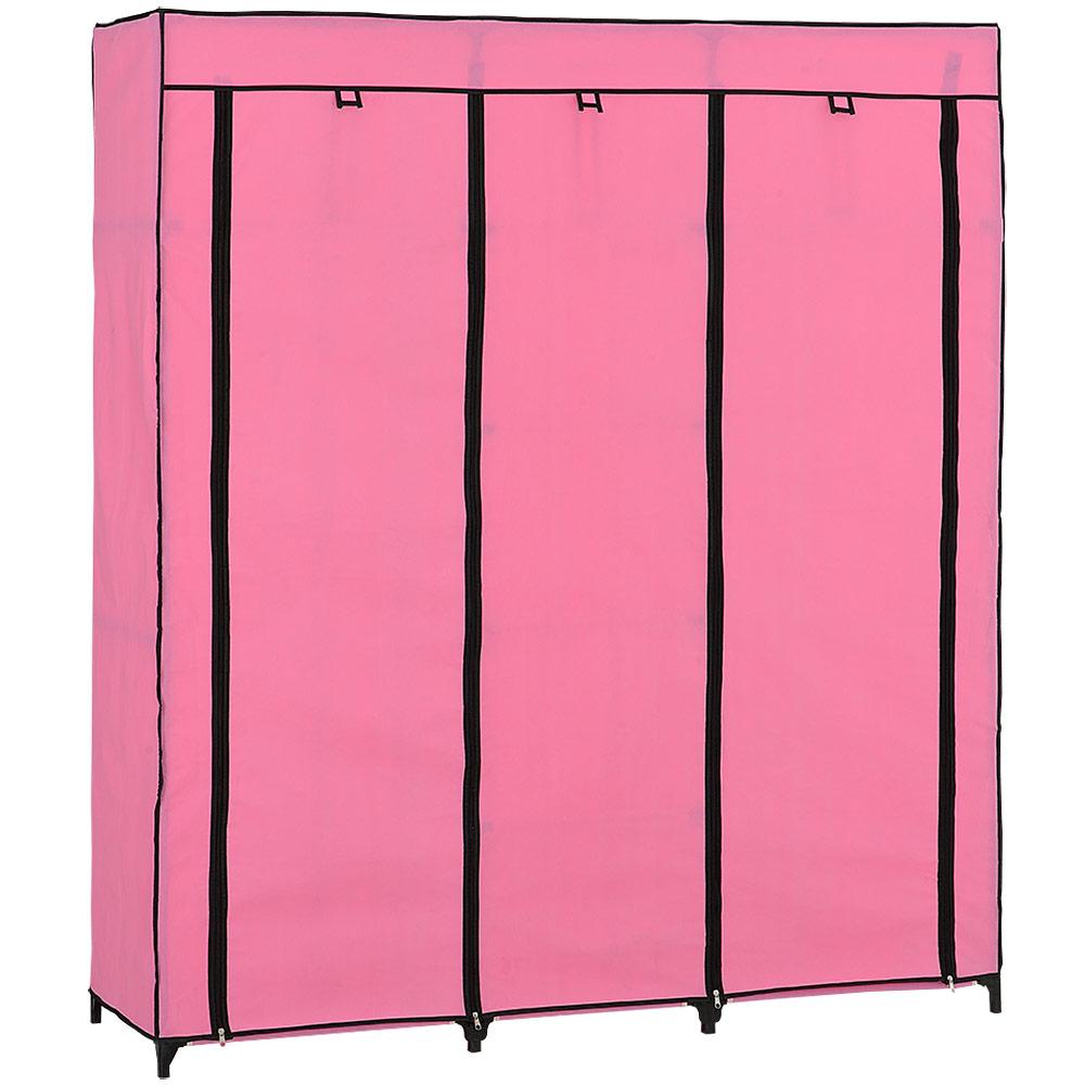 neu holz kleiderschrank 175x150 rosa stoff falt schrank. Black Bedroom Furniture Sets. Home Design Ideas