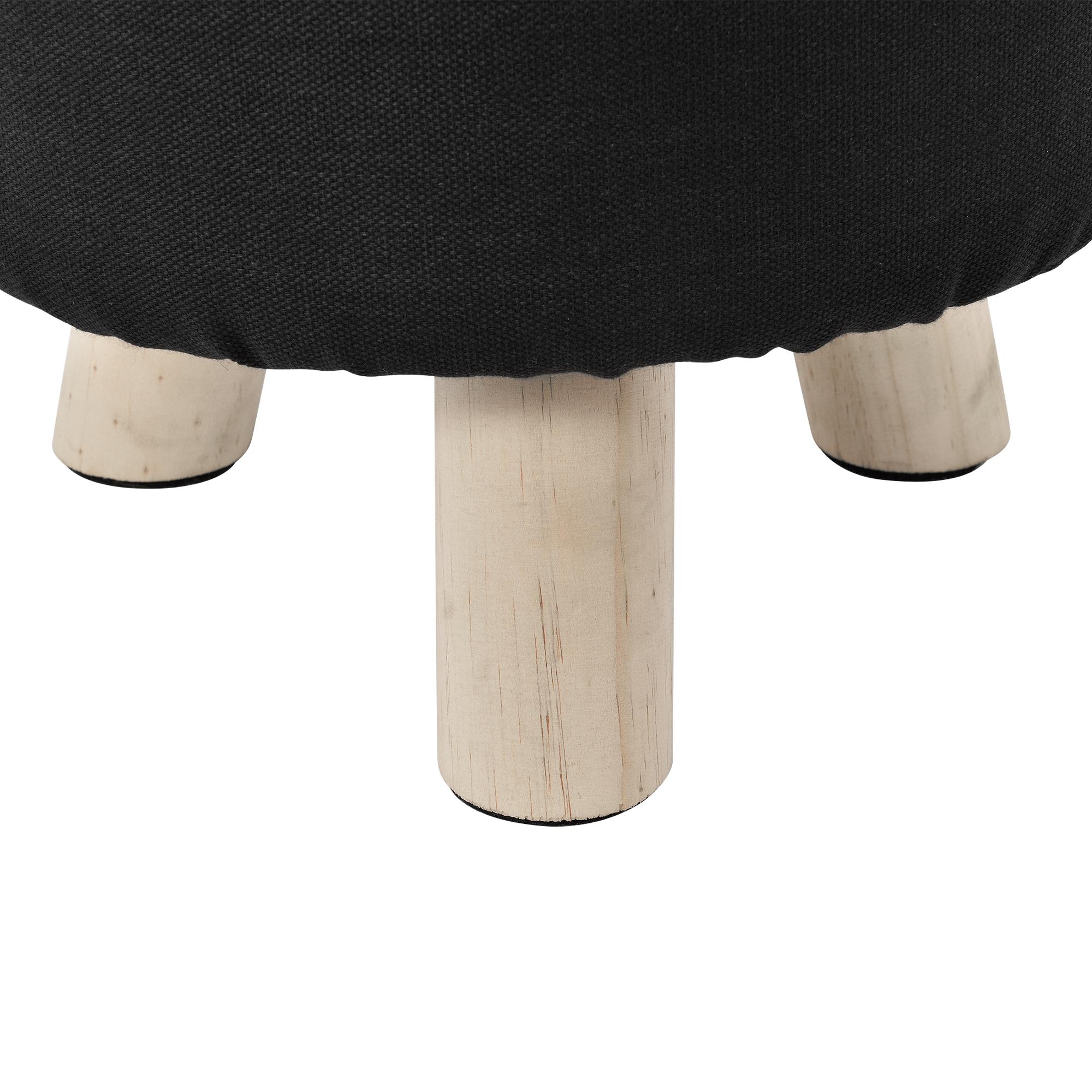 [ensa] Sitz Hocker schwarz rund Polsterhocker