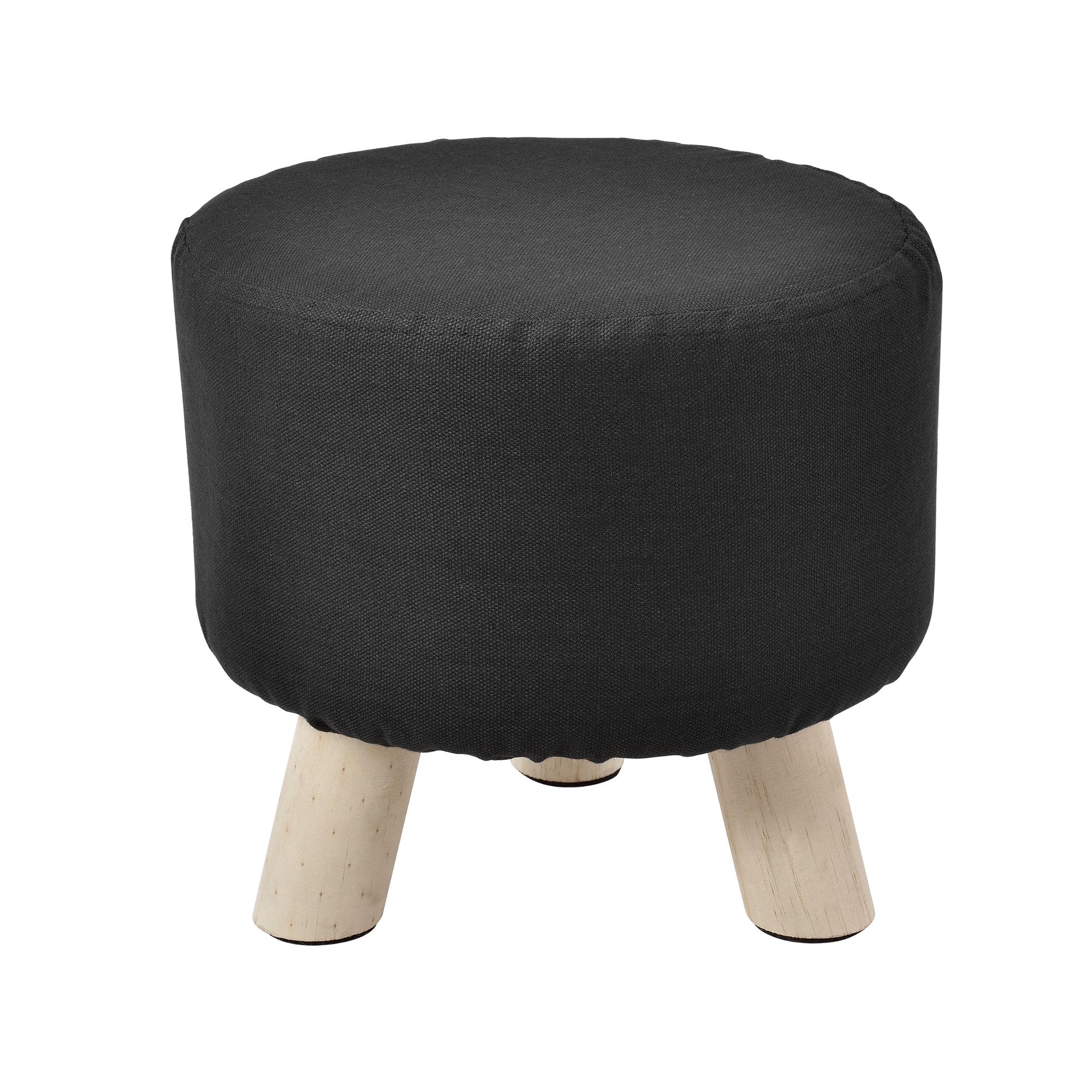 sitz hocker schwarz rund polsterhocker. Black Bedroom Furniture Sets. Home Design Ideas