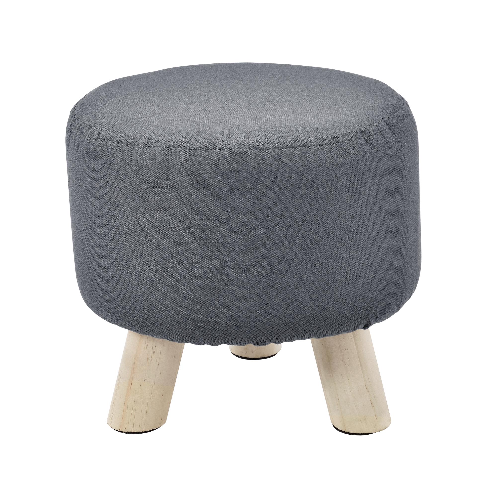 sitz hocker rund polsterhocker sitzhocker badhocker gepolstert textil ebay. Black Bedroom Furniture Sets. Home Design Ideas
