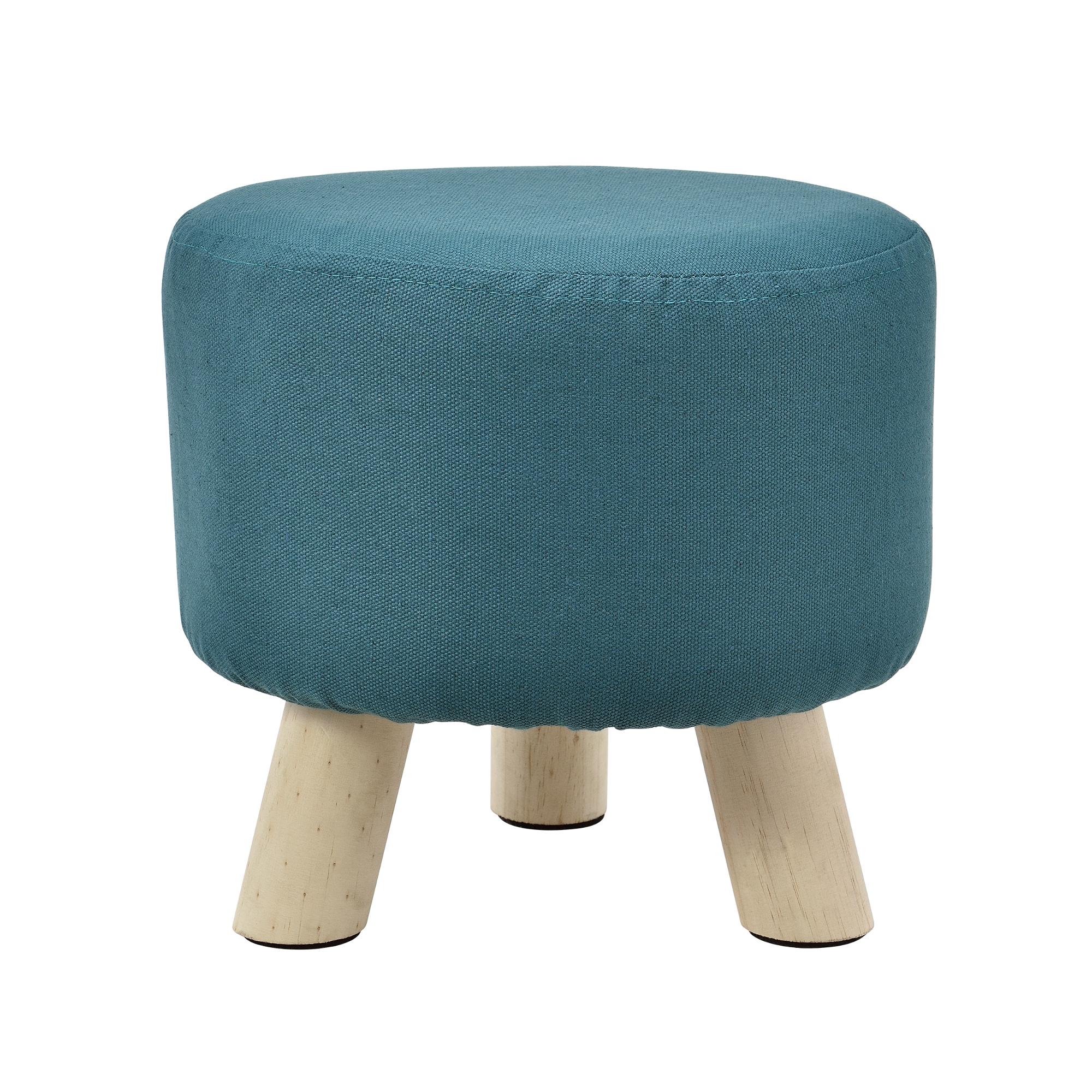 sitz hocker t rkis rund polsterhocker. Black Bedroom Furniture Sets. Home Design Ideas