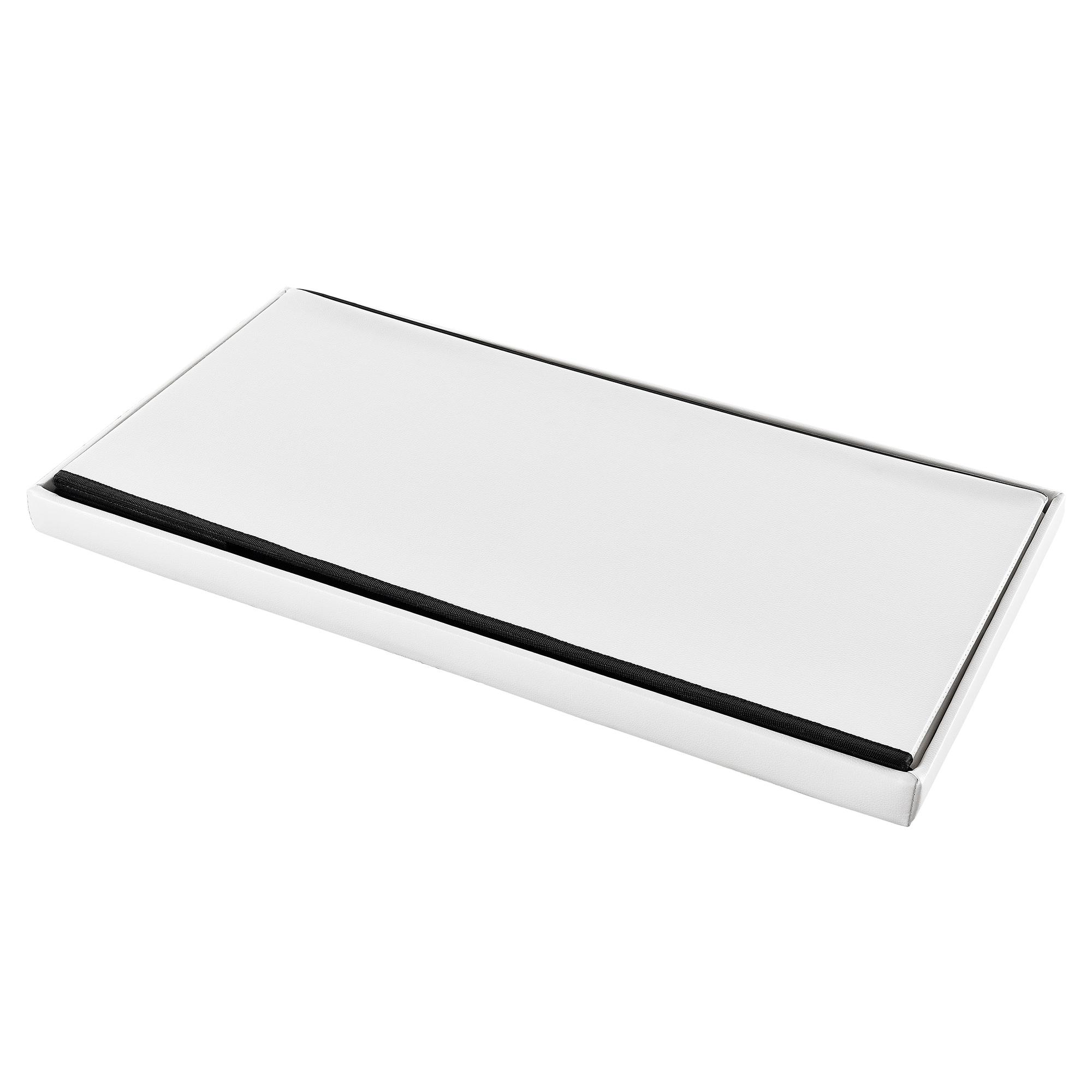 sitzbank wei 76x38x38cm sitz hocker aufbewahrungsbox truhe. Black Bedroom Furniture Sets. Home Design Ideas