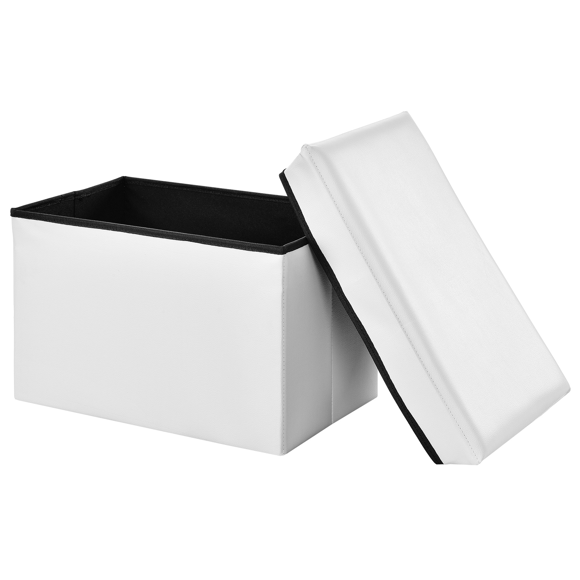 sitzhocker wei 48x31x31cm sitz bank. Black Bedroom Furniture Sets. Home Design Ideas
