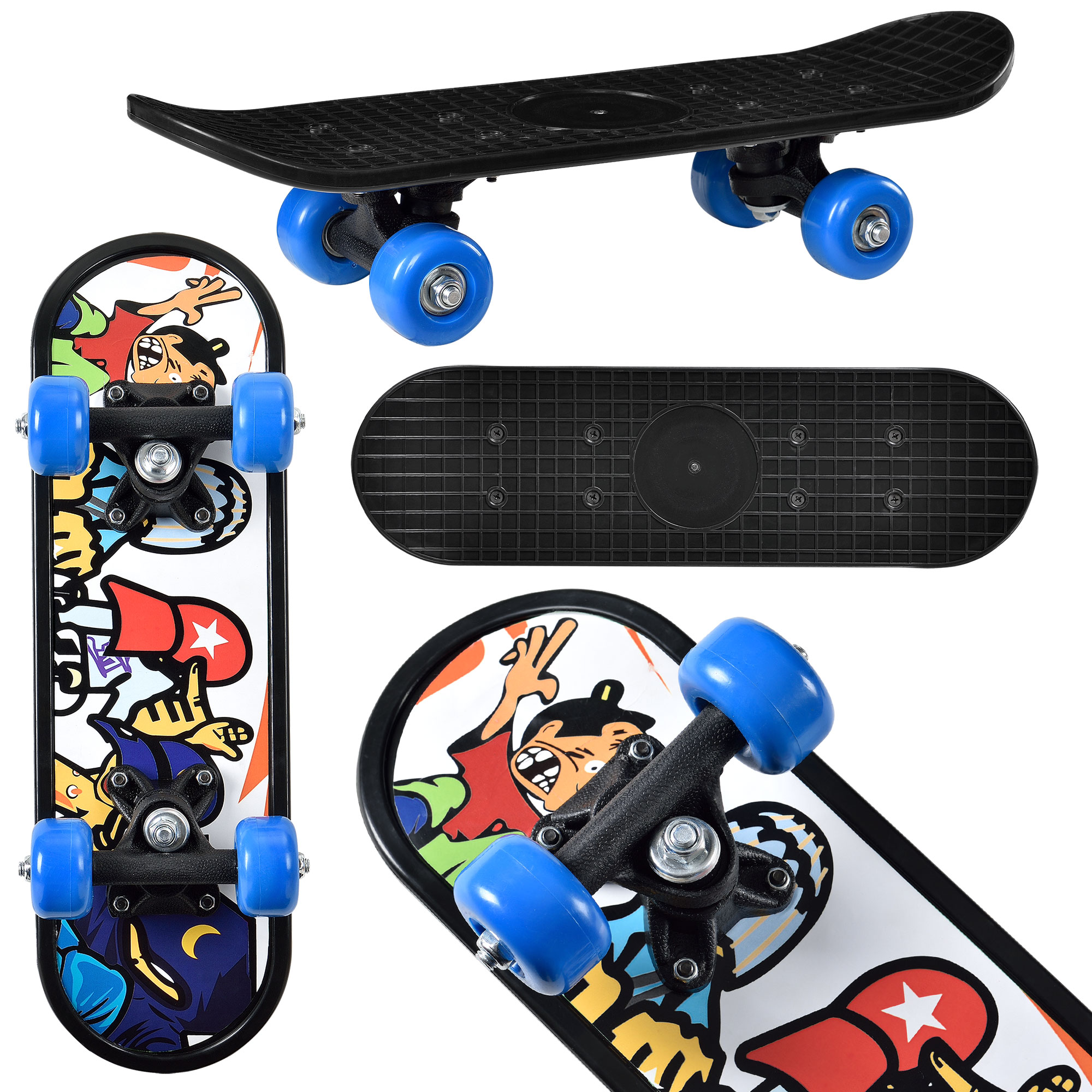 [pro.tec]® Skateboard mini - retro board ABEC 7