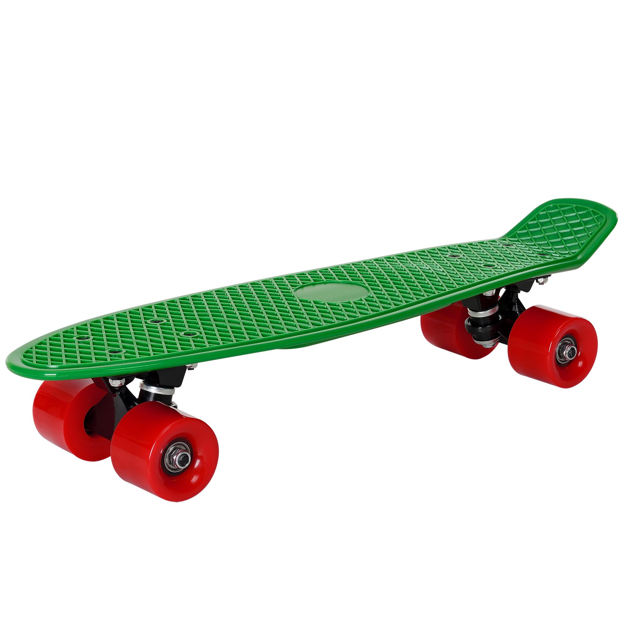 [pro.tec]® Retro Skateboard mini - penny board ABEC 7 - zelené s červenými kolečky