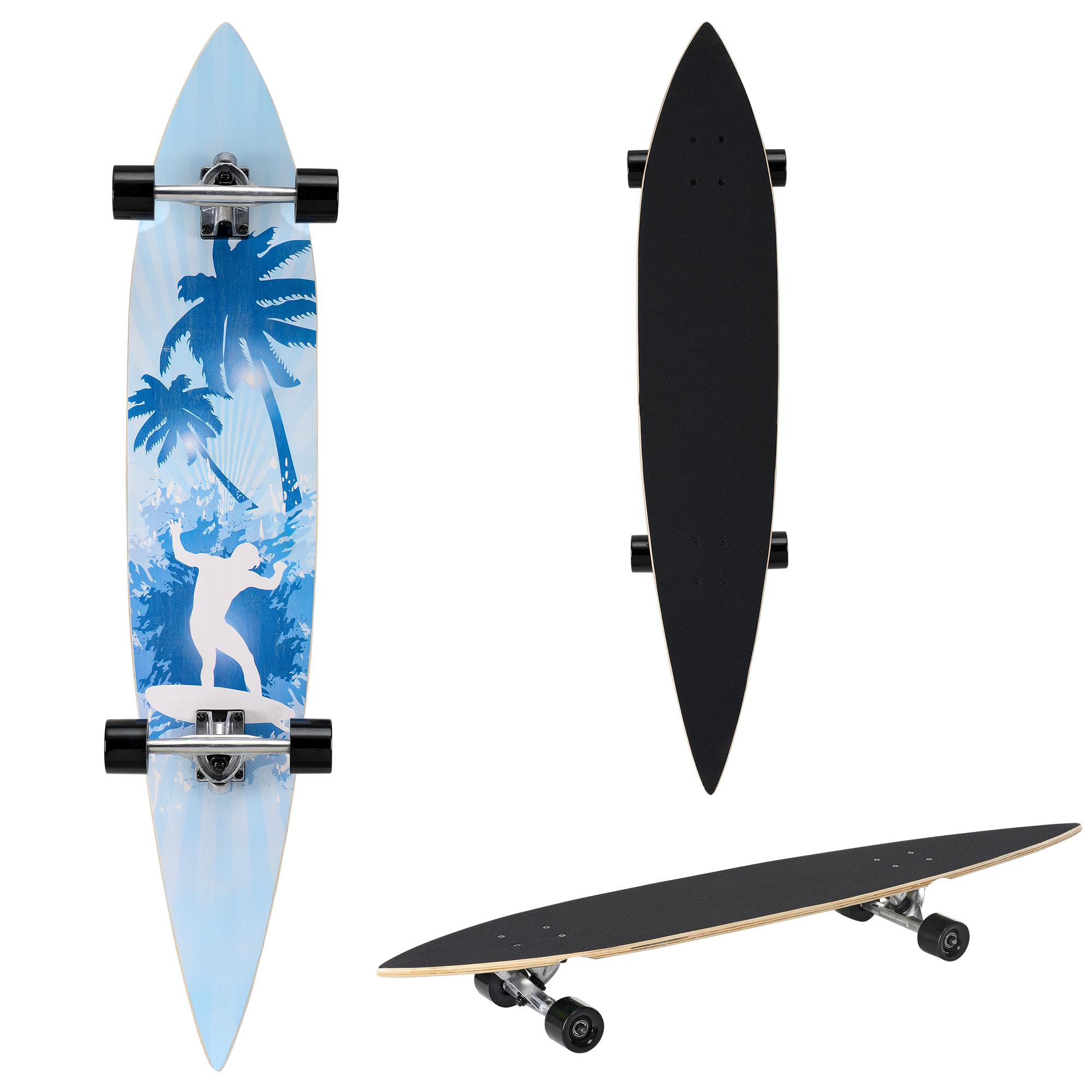[pro.tec]® Pintail longboard - ZY-4608-5 - skateboard / surfer board
