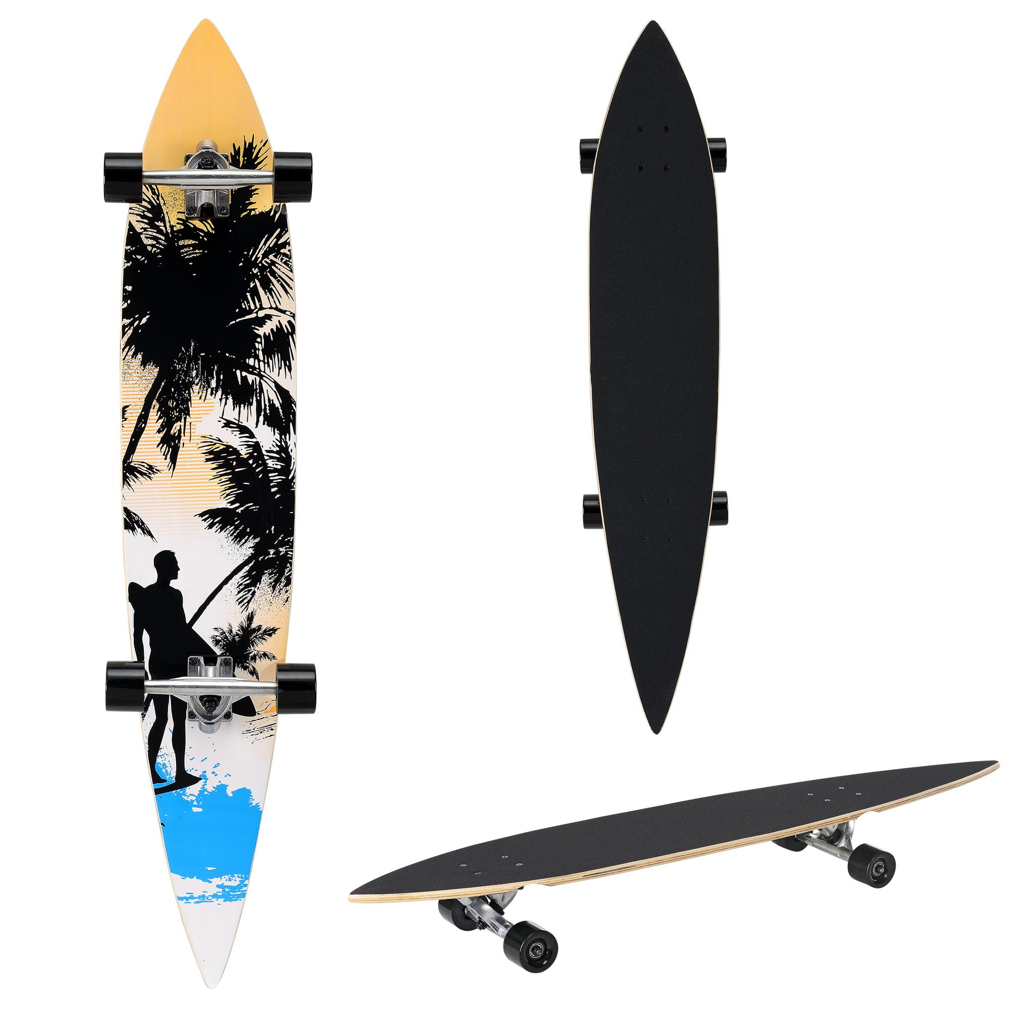 [pro.tec]® Pintail longboard - ZY-4608-1 - skateboard / surfer board