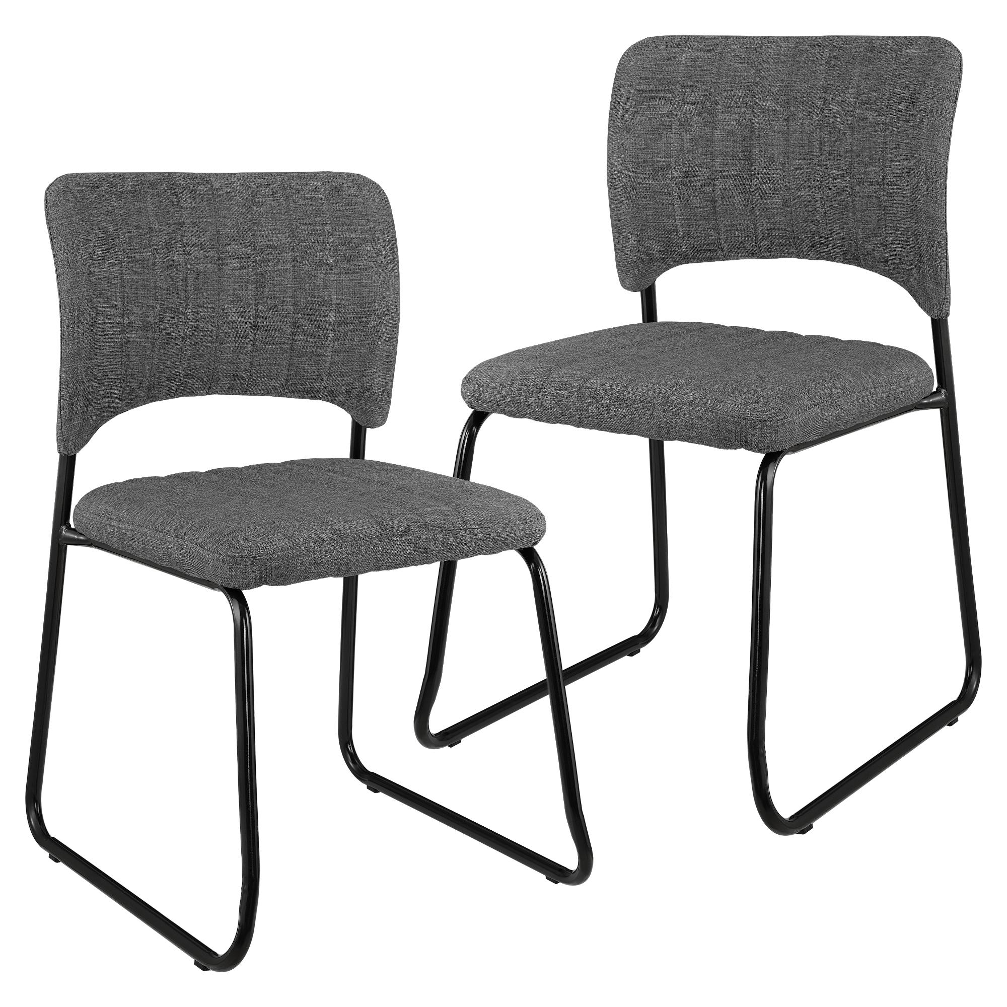 2x design chaises textile gris fonc chaise de salle manger ebay. Black Bedroom Furniture Sets. Home Design Ideas