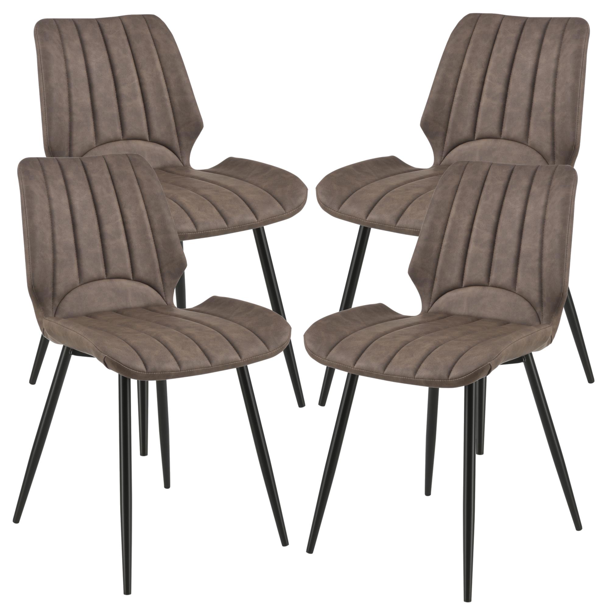 [en.casa]® Jídelní židle 4x AACM-9033